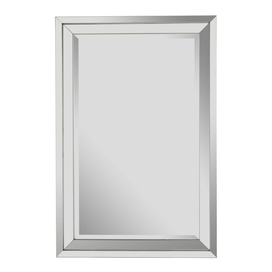 Well Known Frameless Beveled Wall Mirrors Pertaining To Cooper Classics Paula Beveled Frameless Wall Mirror At Lowes (View 16 of 20)