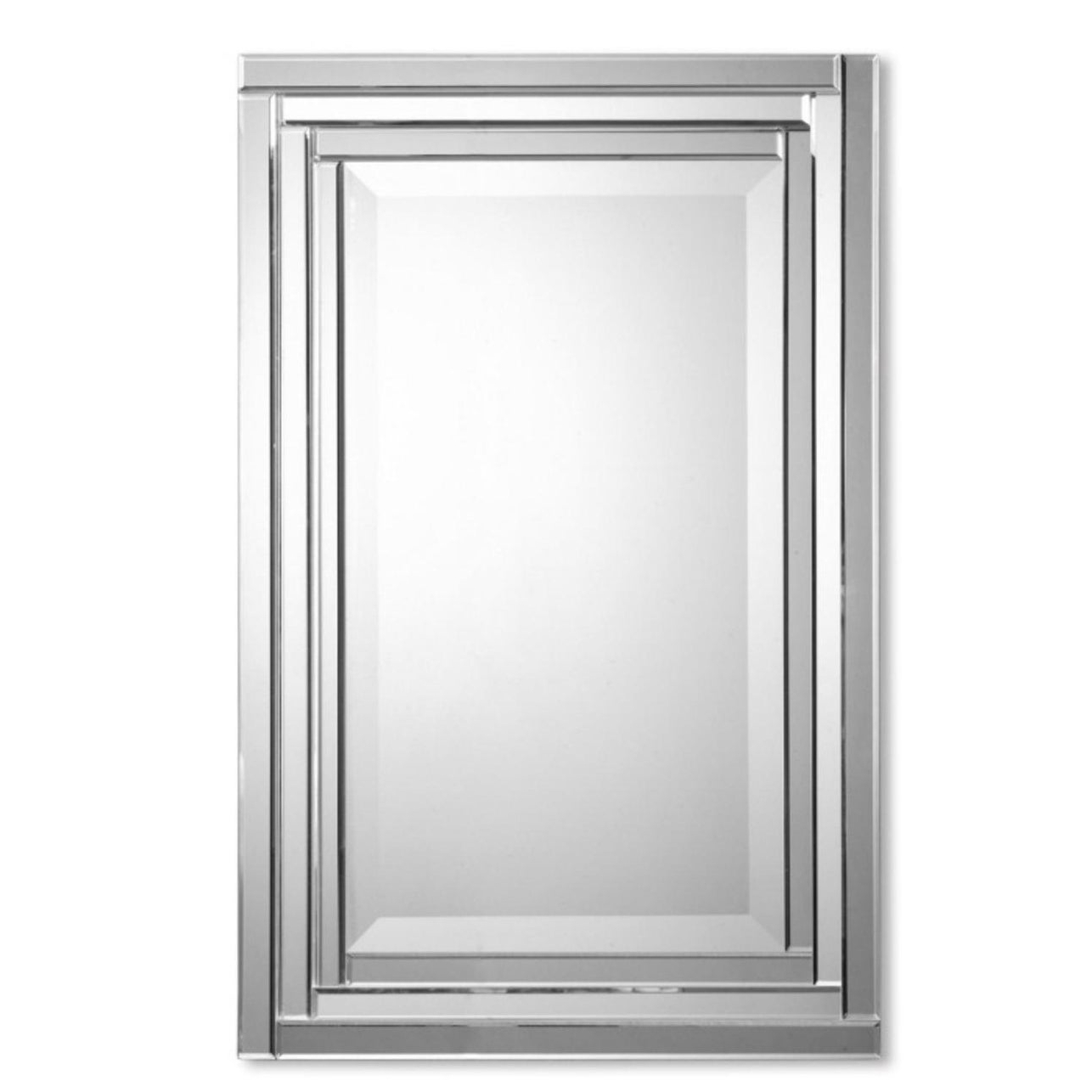 """Well Known Frameless Molten Wall Mirrors Pertaining To 34"""" Frameless Polished Rectangular Beveled Vanity Wall Mirror – N/a (View 20 of 20)"""