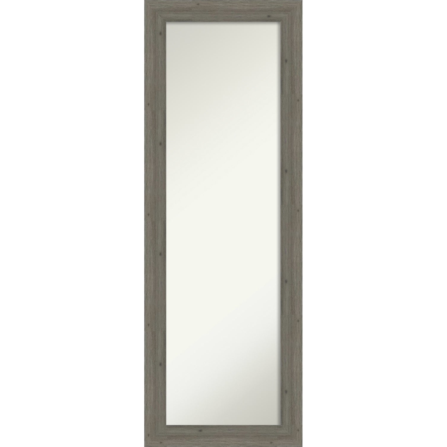 Well Known Full Size Wall Mirrors For On The Door Full Length Wall Mirror, Fencepost Grey Narrow: Outer Size 19 X 53 Inch – 52.62 X 18.62 X (View 8 of 20)