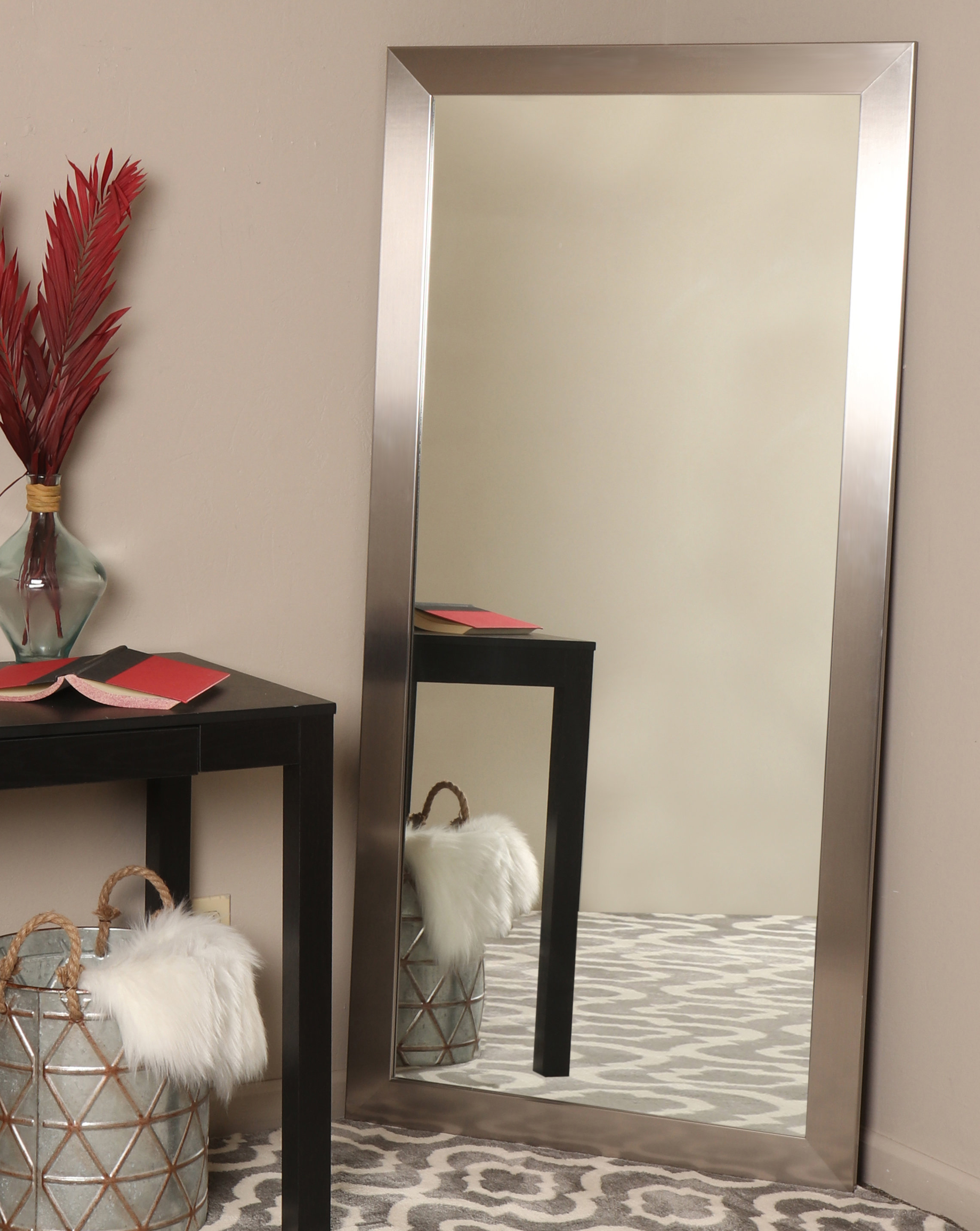 Well Known Full Wall Mirrors Intended For Silver Hotel Design Full Length Wall Mirror (View 11 of 20)