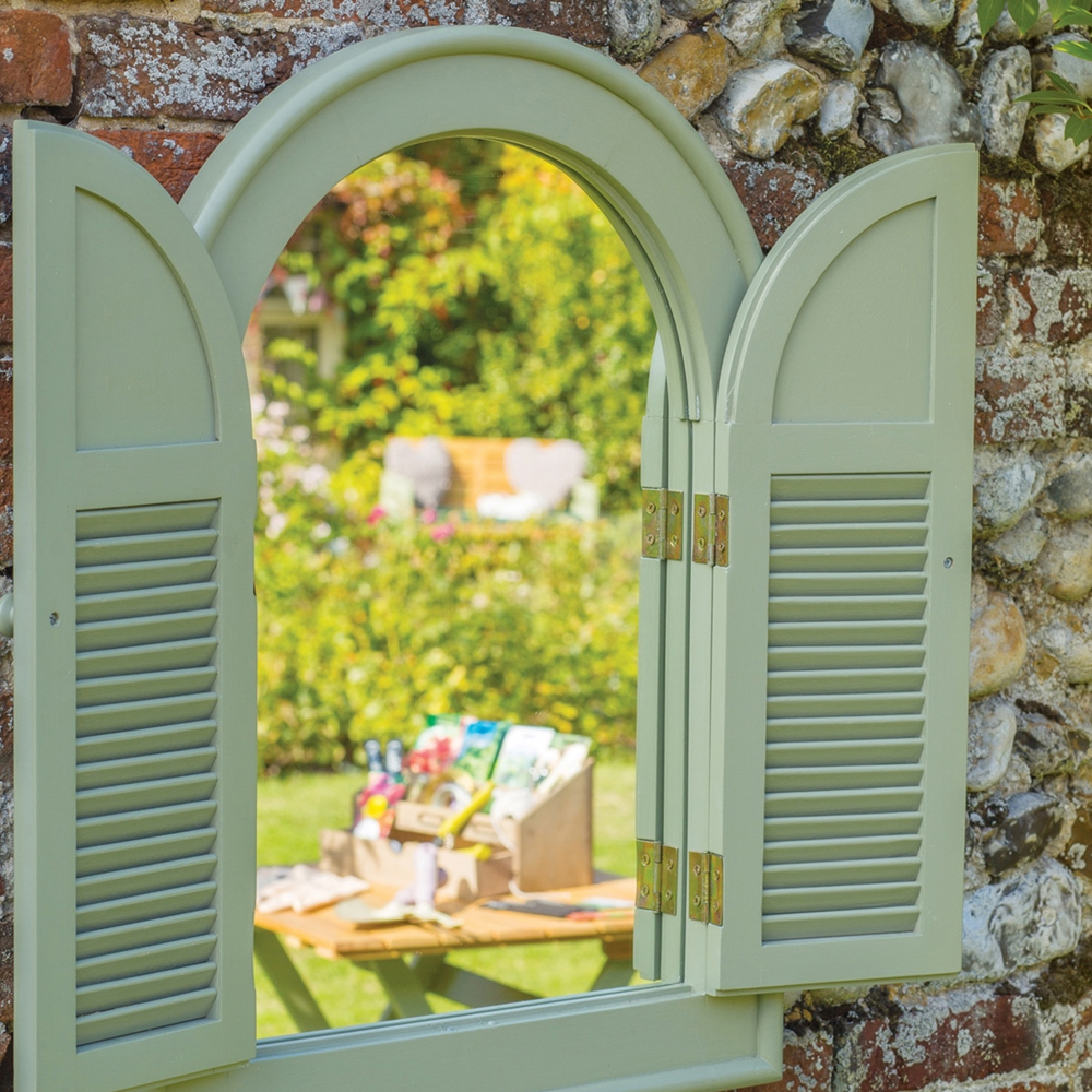 Well Known Garden Mirror Ideas To Flood Gardens With Light In Wall Mirrors With Shutters (View 6 of 20)
