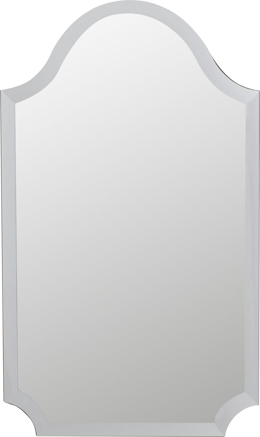 Well Known Gia Hexagon Accent Mirror Products Wall Oversized Wall Mirrors Within Dariel Tall Arched Scalloped Wall Mirrors (View 8 of 20)