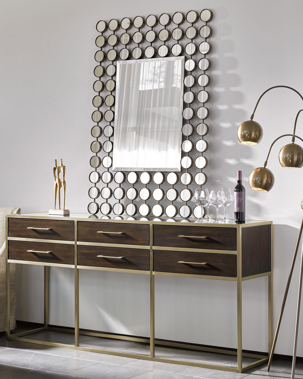 Well Known Grid Accent Mirrors Throughout Kaylan Accent Mirror (Gallery 17 of 20)