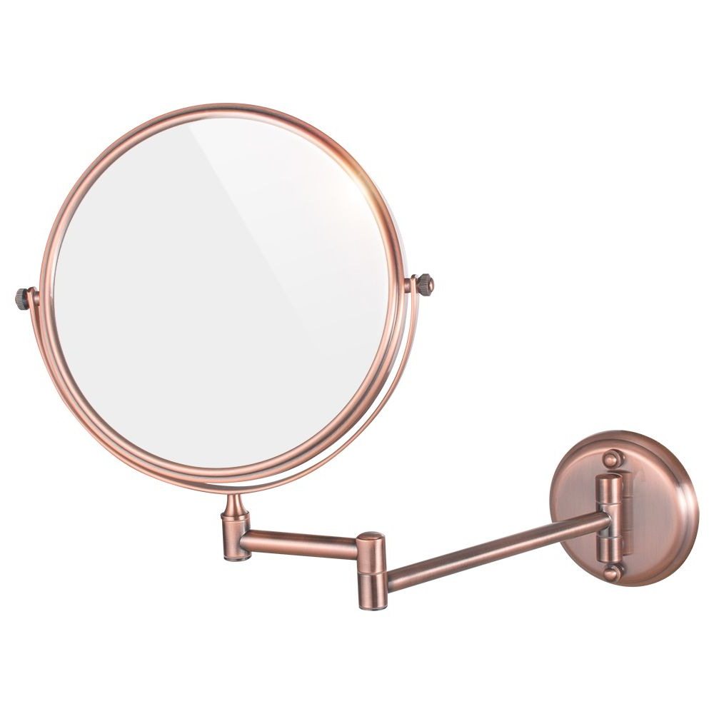 Well Known Gurun 8 Inch 5/7/10x Rose Gold Mirror Makeup 2 Side Cosmetic Mirror Within Cosmetic Wall Mirrors (View 15 of 20)