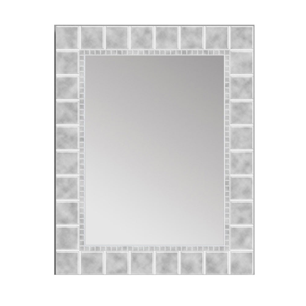 Well Known Headwest Large Glass Block Wall Mirror – Off White – 24 X 36 Inside 24 X 36 Wall Mirrors (View 16 of 20)