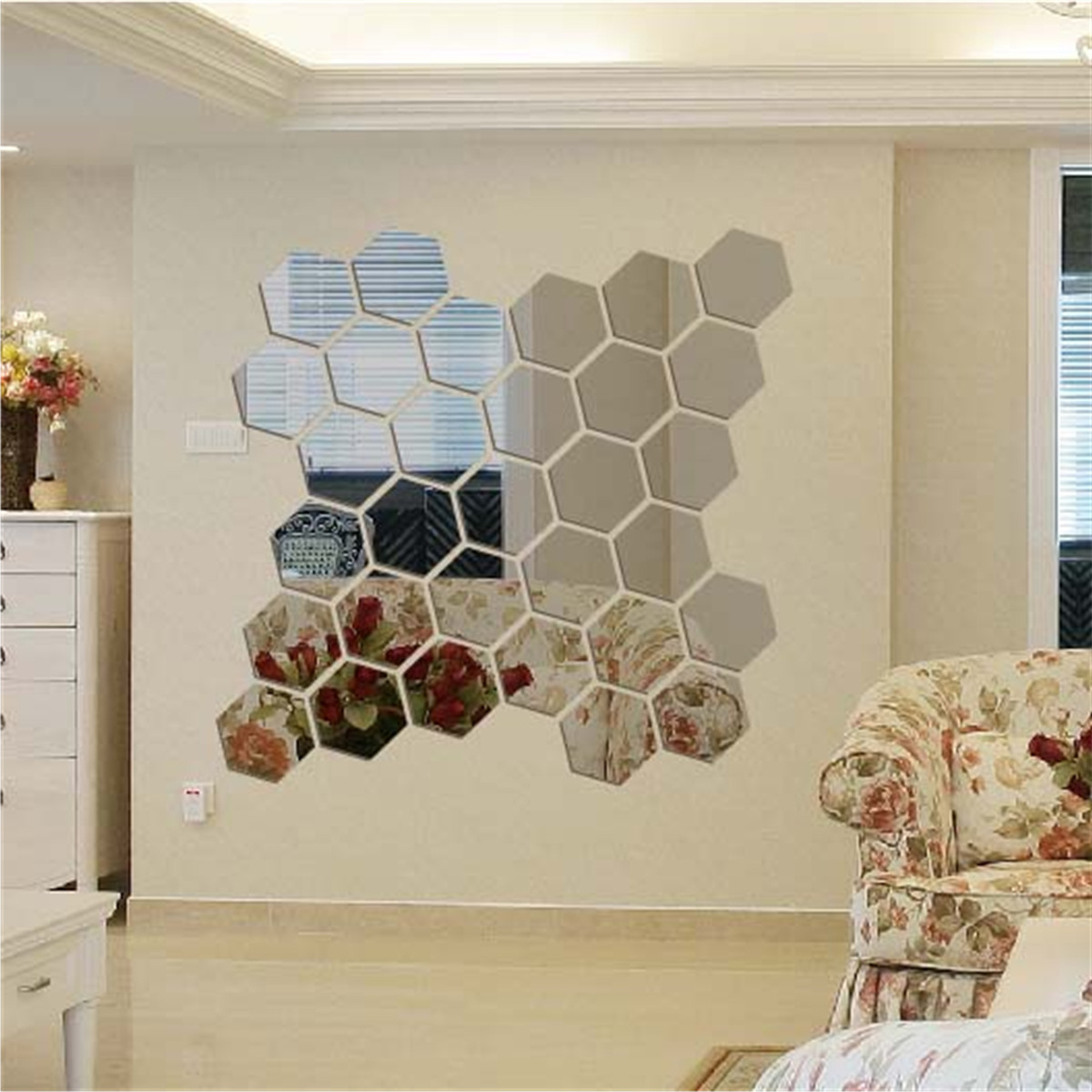 Well Known Hexagon Wall Mirrors Regarding Professionally Hexagon Decor Geo Style That Combine Style (View 7 of 20)