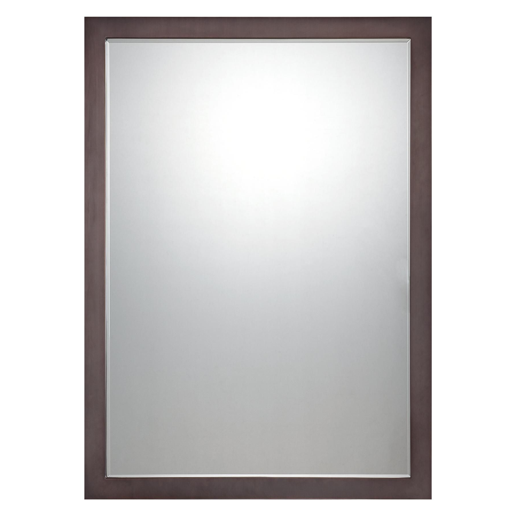 """Well Known Hogge Modern Brushed Nickel Large Frame Wall Mirrors With Regard To Paradox Brushed Nickel 24"""" X 33"""" Wall Mirror – # (View 20 of 20)"""