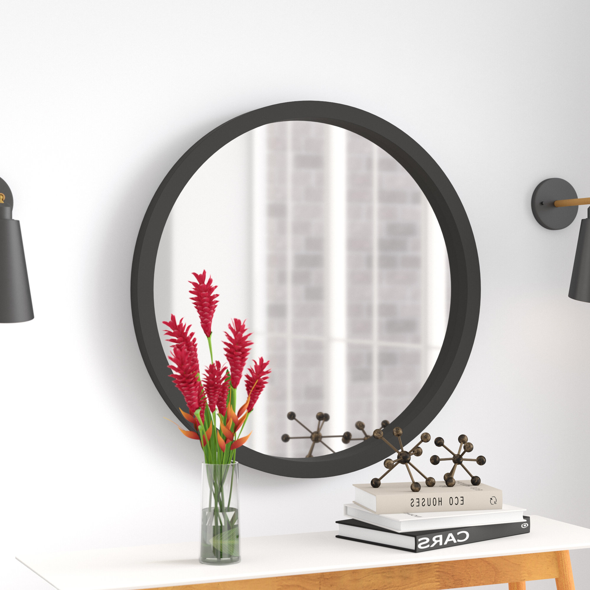 Well Known Hub Modern And Contemporary Accent Mirrors Intended For Samson Modern & Contemporary Wall Mirror (View 18 of 20)