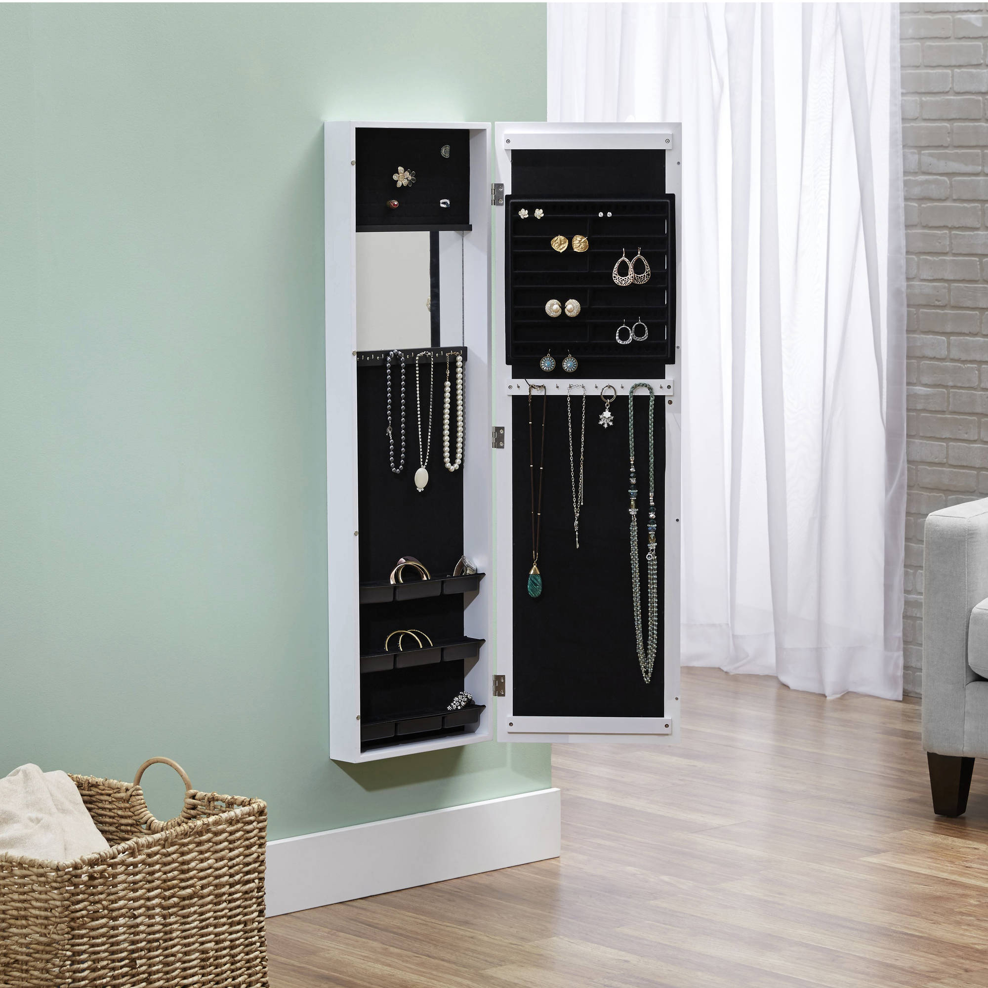 Well Known Innerspace Over The Door/wall Hang/mirrored Jewelry Armoire With Regard To Jewelry Wall Mirrors (View 5 of 20)
