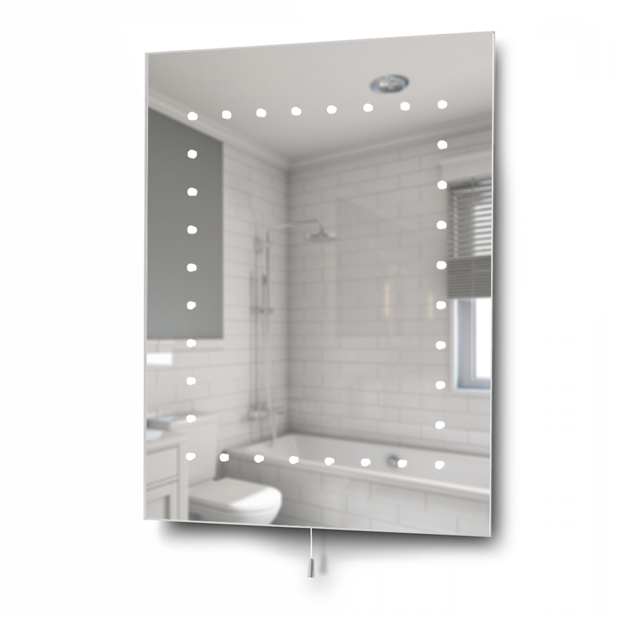 Well Known Ip44 Light Up Bathroom Wall Mirror Inside Light Up Wall Mirrors (View 19 of 20)