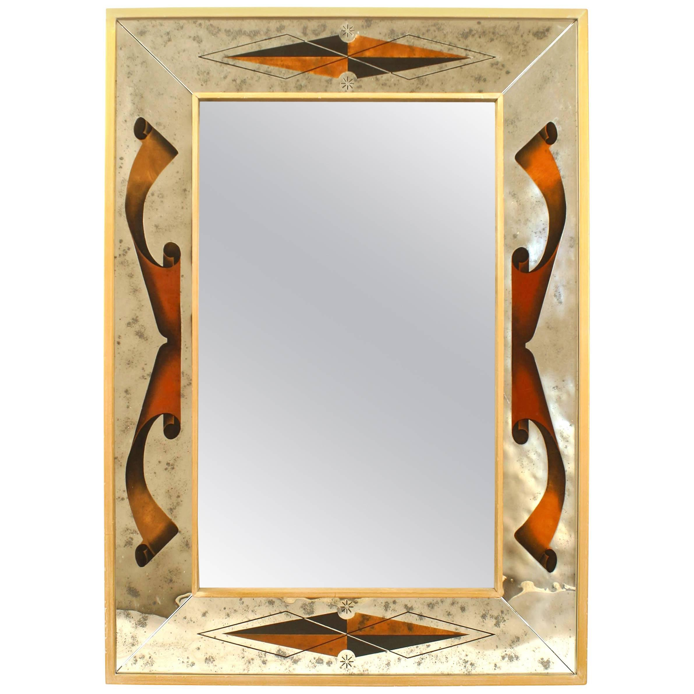 Well Known Italian Rectangular Wall Mirror Intended For Orange Framed Wall Mirrors (View 8 of 20)