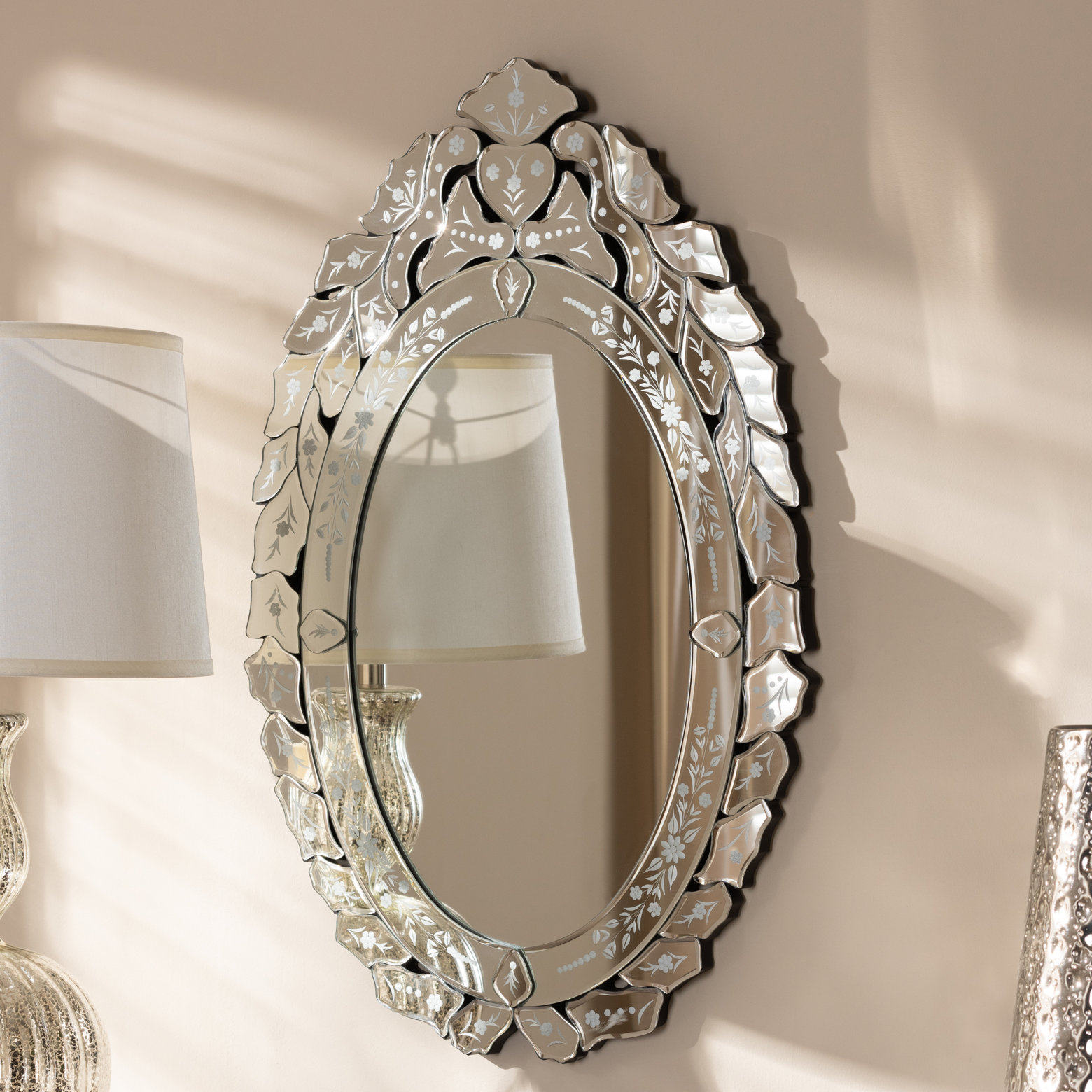 Well Known Josephus Venetian Accent Wall Mirror Within Tata Openwork Round Wall Mirrors (View 20 of 20)