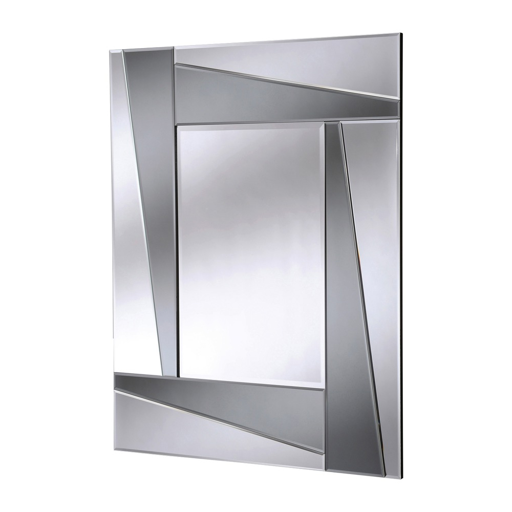 Well Known Large Art Deco Wall Mirrors Regarding Smoked Art Deco Wall Mirror (View 8 of 20)