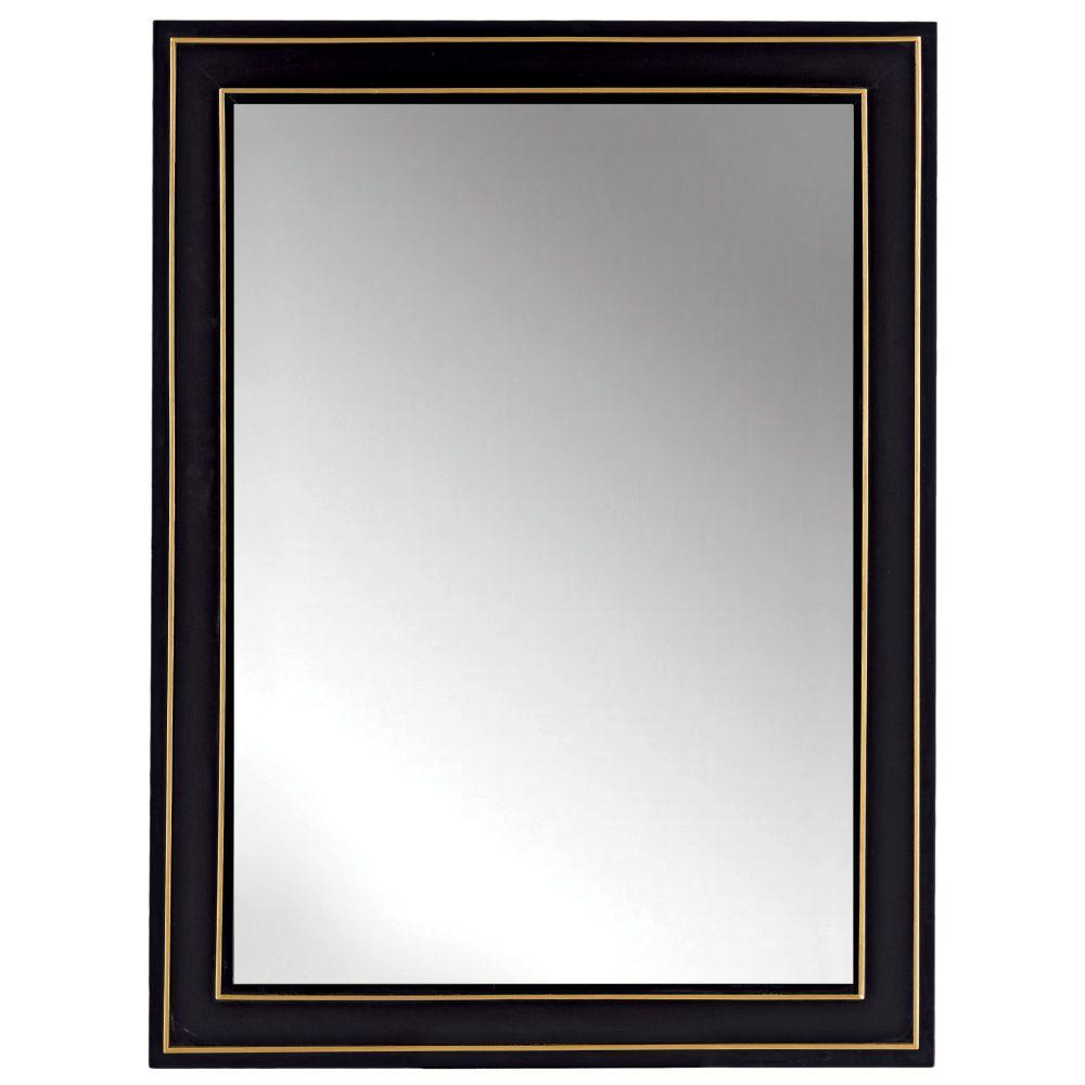 Well Known Large Black Framed Wall Mirrors Regarding Home Decorators Collection Florence 30 In. X 40 In (View 3 of 20)