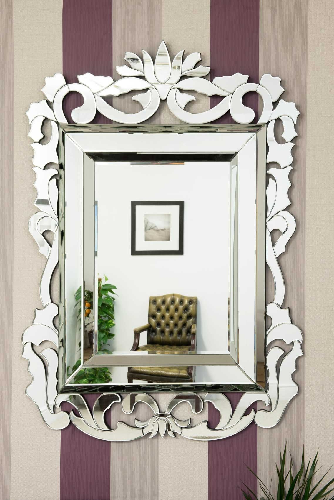 Well Known Large French Baroque Venetian Wall Mirror 4Ft5 X 3Ft3 (135Cm X 99Cm Regarding Large Venetian Wall Mirrors (View 7 of 20)