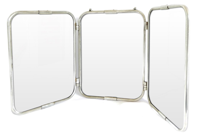 Well Known Large French Mirror Triptych Folding Barber Tri Fold Vintage Bathroom Wall  Mirror With Tri Fold Bathroom Wall Mirrors (View 19 of 20)