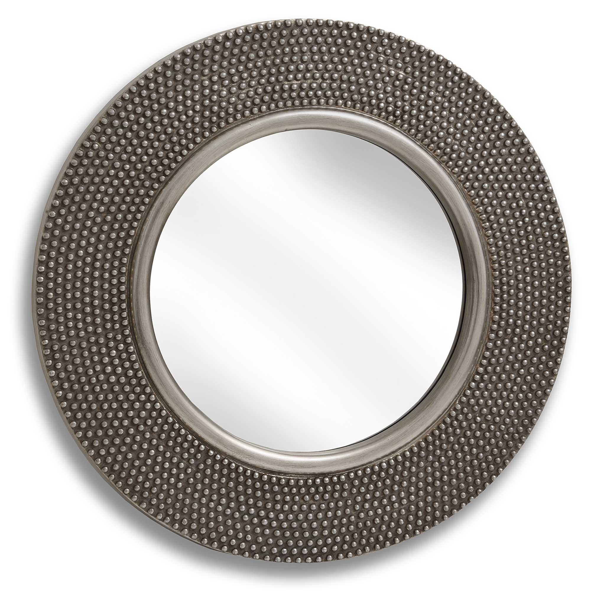 Well Known Large Round Beaded Wall Mirror Regarding Large Round Wall Mirrors (View 6 of 20)