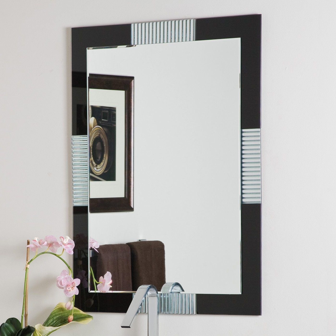 Well Known Large Wall Mirrors For Bathroom Intended For Decor Wonderland Francisco Large Frameless Wall Mirror (View 19 of 20)