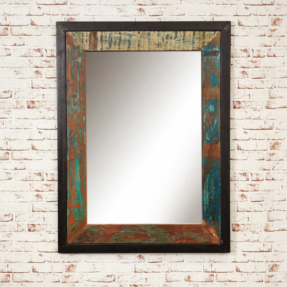 Well Known Large Wall Mirrors With Regard To Urban Chic Large Rustic Wall Mirror (View 20 of 20)