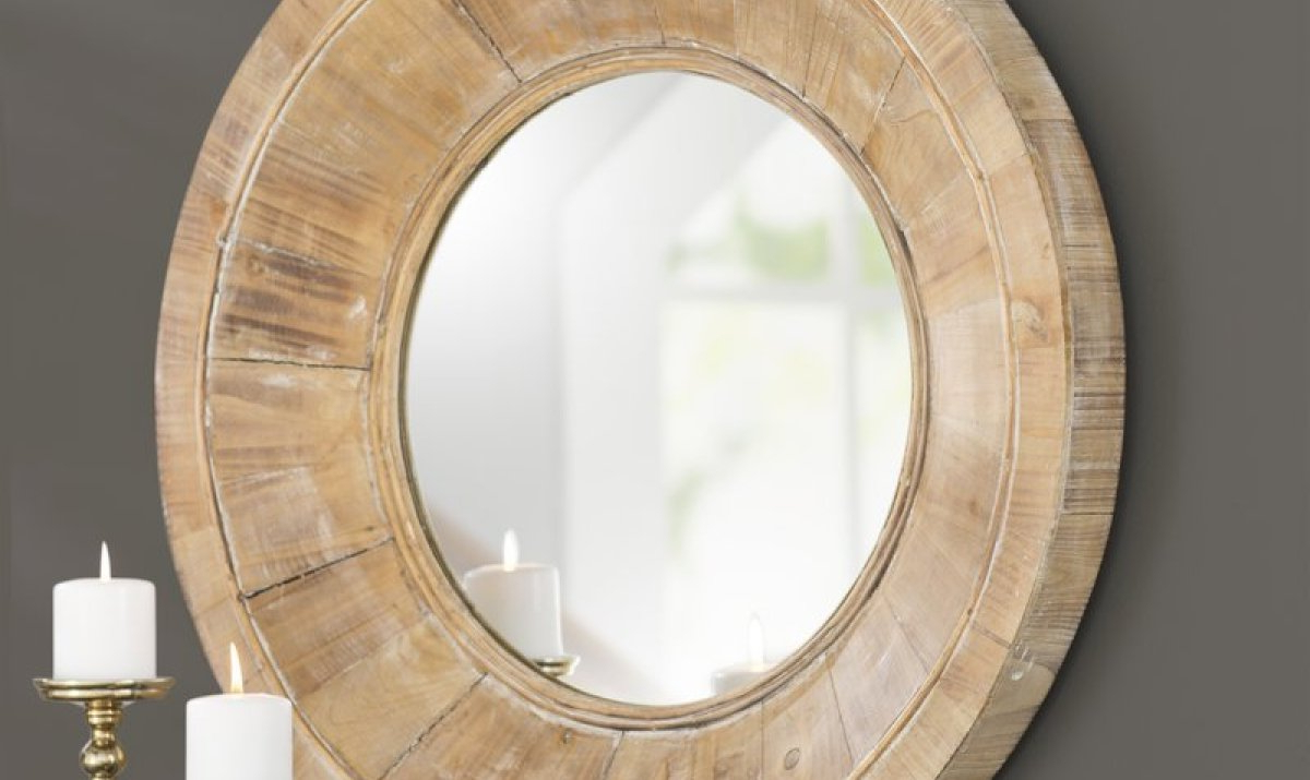 Well Known Laurel Foundry Modern & Contemporary Accent Mirrors Pertaining To Modern Wooden Wall Mirror (View 18 of 20)