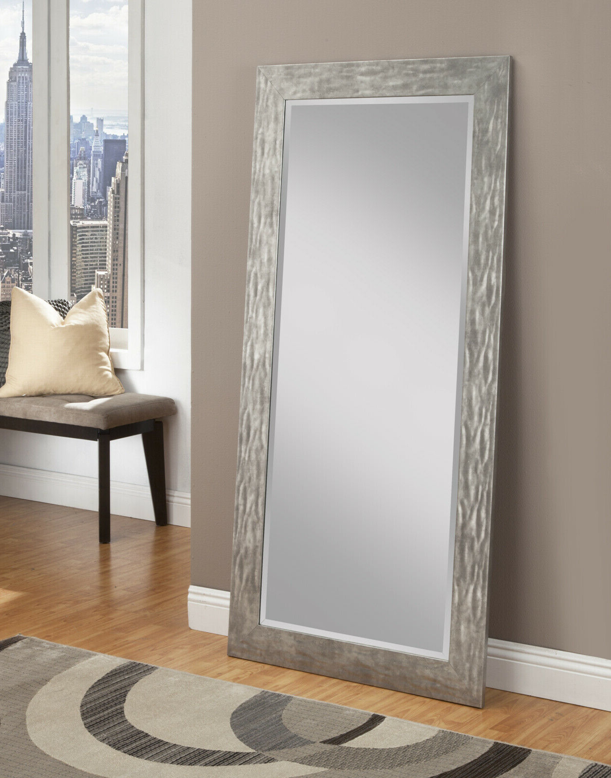 Well Known Leaning Wall Mirrors For Full Length Floor Mirror Leaning Wall Bedroom Living Dressing Distressed Metal (View 20 of 20)