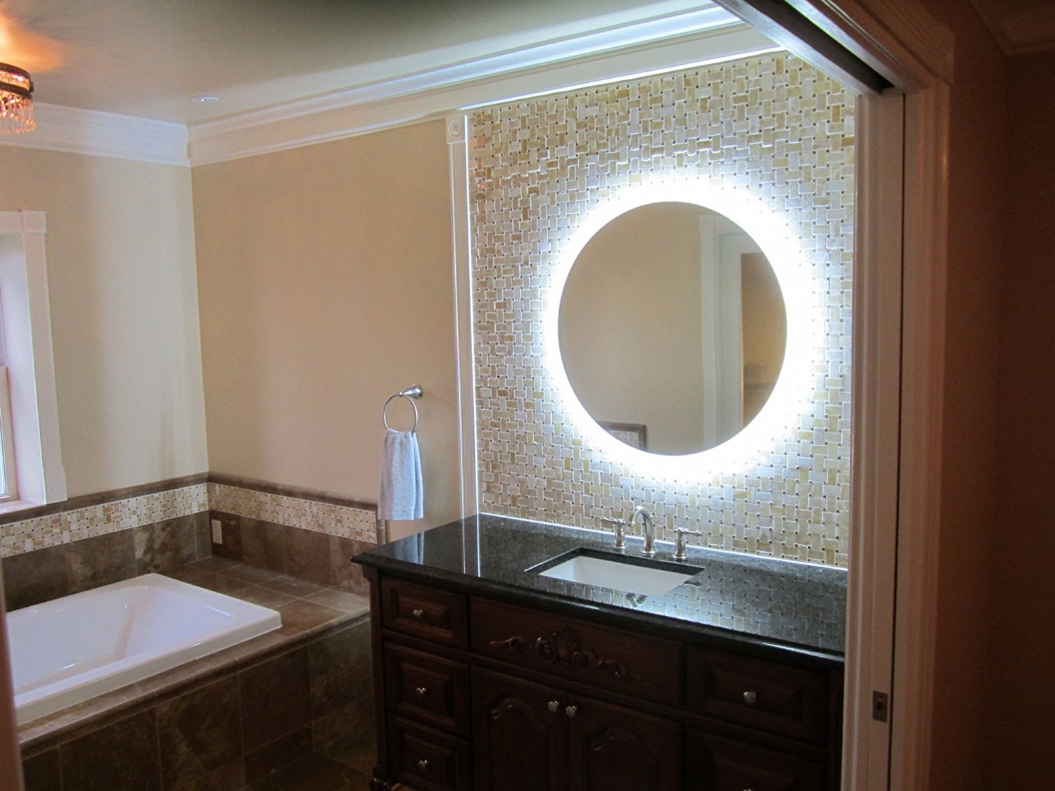 Well Known Lighted Vanity Mirror Round — Awesome House Lighting : Perfect With Regard To Lighted Vanity Wall Mirrors (View 7 of 20)