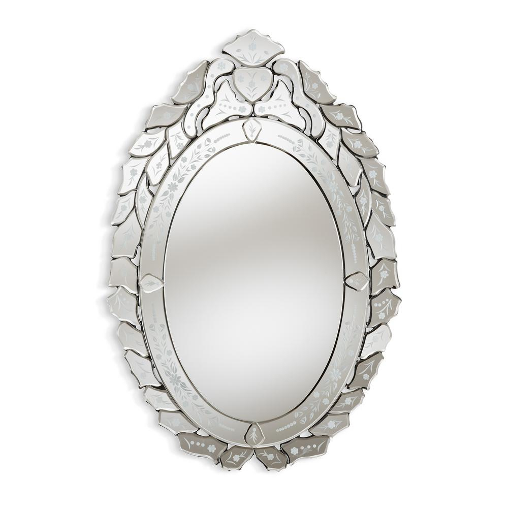 Well Known Livia Antique Silver Wall Mirror Intended For Silver Oval Wall Mirrors (Gallery 20 of 20)