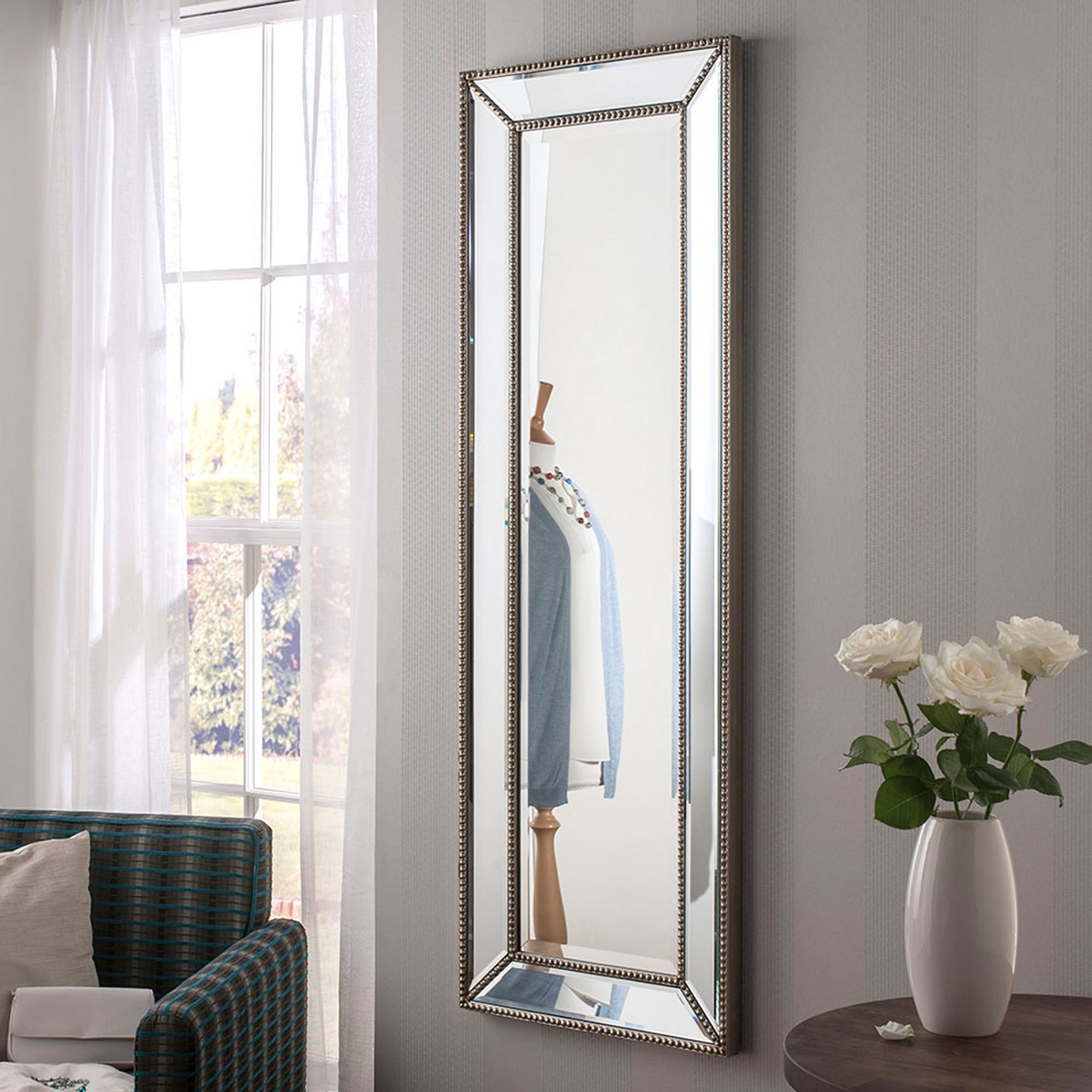 Well Known Long Silver Wall Mirrors Regarding Monaco Long Bevelled Wall Mirror (View 8 of 20)