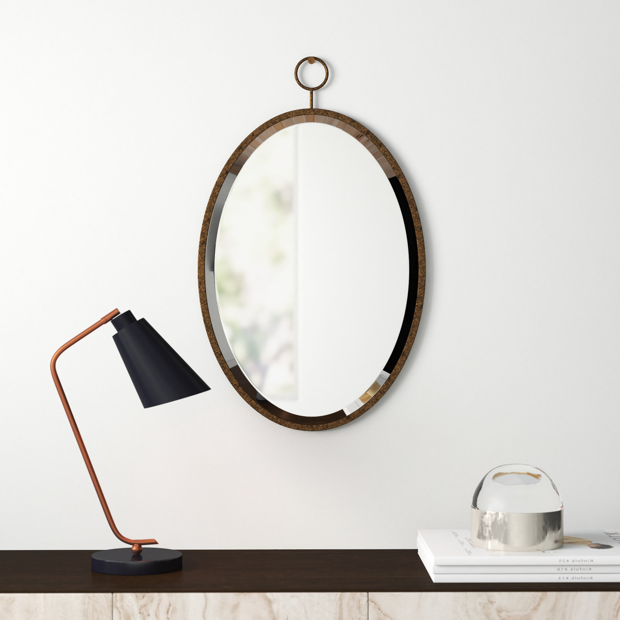 Well Known Mahanoy Modern And Contemporary Distressed Accent Mirrors With Modern & Contemporary Wall Accent Mirrors (View 19 of 20)