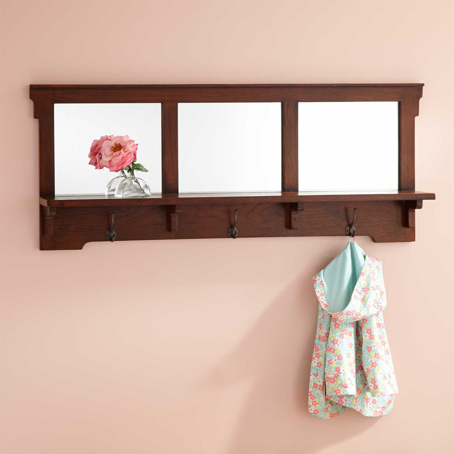 "Well Known Mission Style Wall Mirrors Within 52"" Mission Style Oak Entryway Mirror (Gallery 17 of 20)"