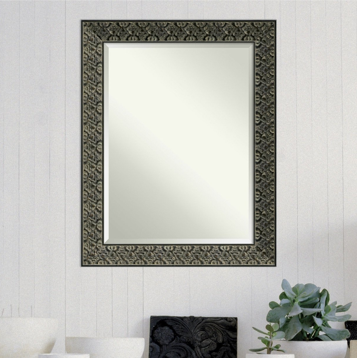 Well Known Modern & Contemporary Beveled Wall Mirrors Within Intaglio Modern & Contemporary Beveled Wall Mirror (Gallery 2 of 20)