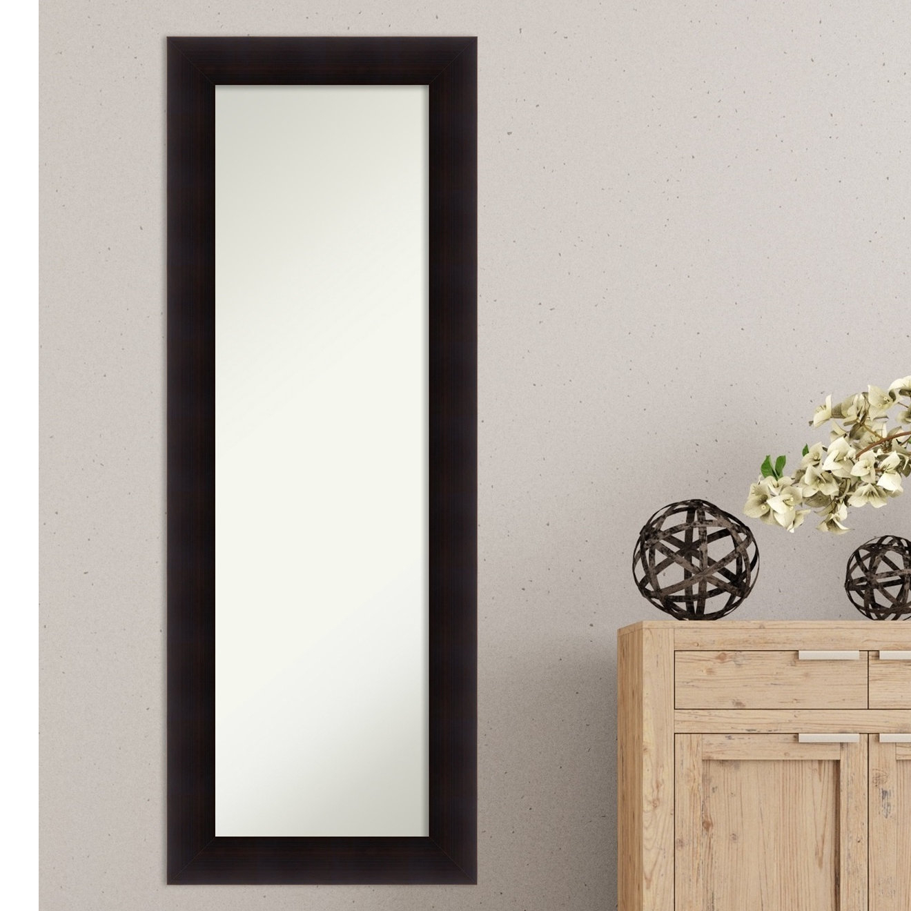 Well Known Modern & Contemporary Full Length Mirrors Within Details About Red Barrel Studio Rectangle Espresso Modern & Contemporary  Full Length Mirror (Gallery 16 of 20)
