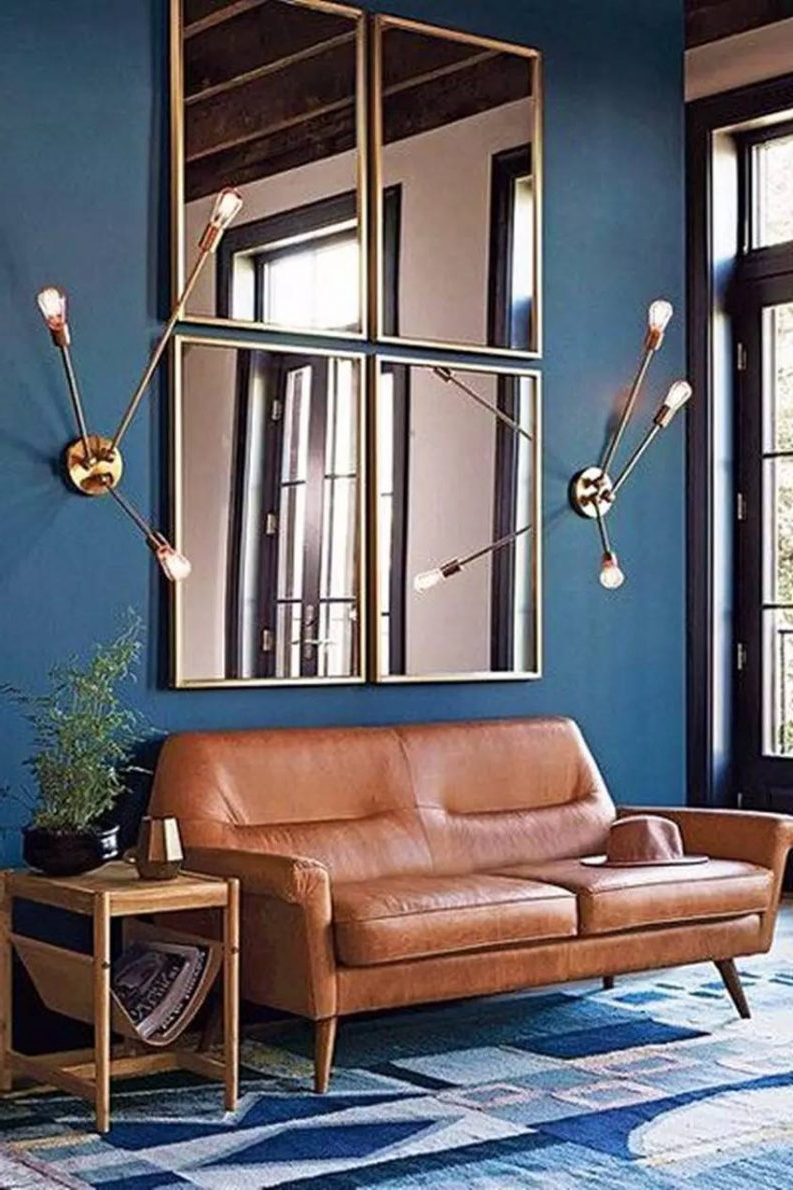 Well Known Modern Wall Mirrors For Living Room Pertaining To 10 Magical Wall Mirrors To Boost Any Living Room Interior Design (View 20 of 20)
