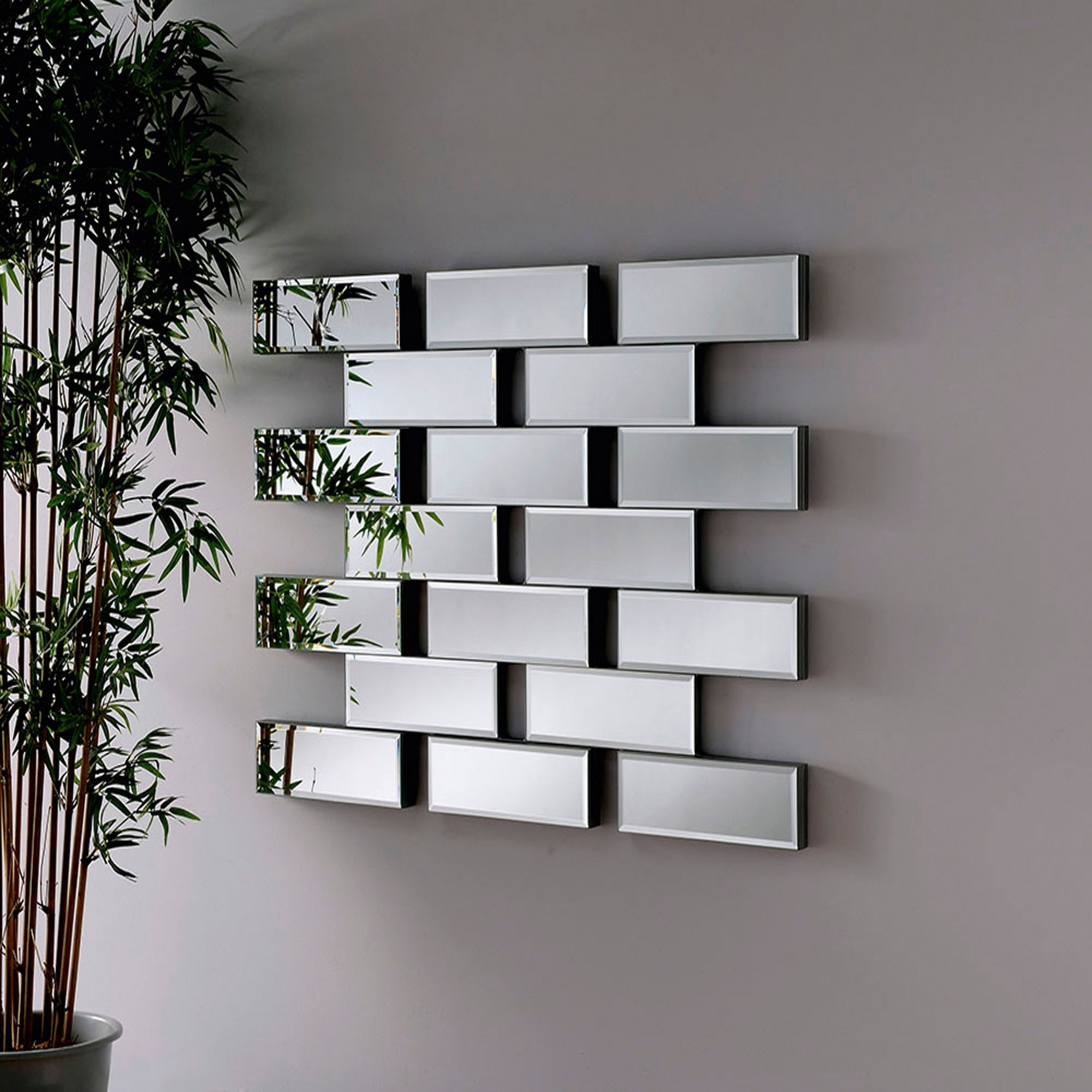 Well Known Modern Wall Mirrors Regarding Maze Contemporary Mirror (View 13 of 20)
