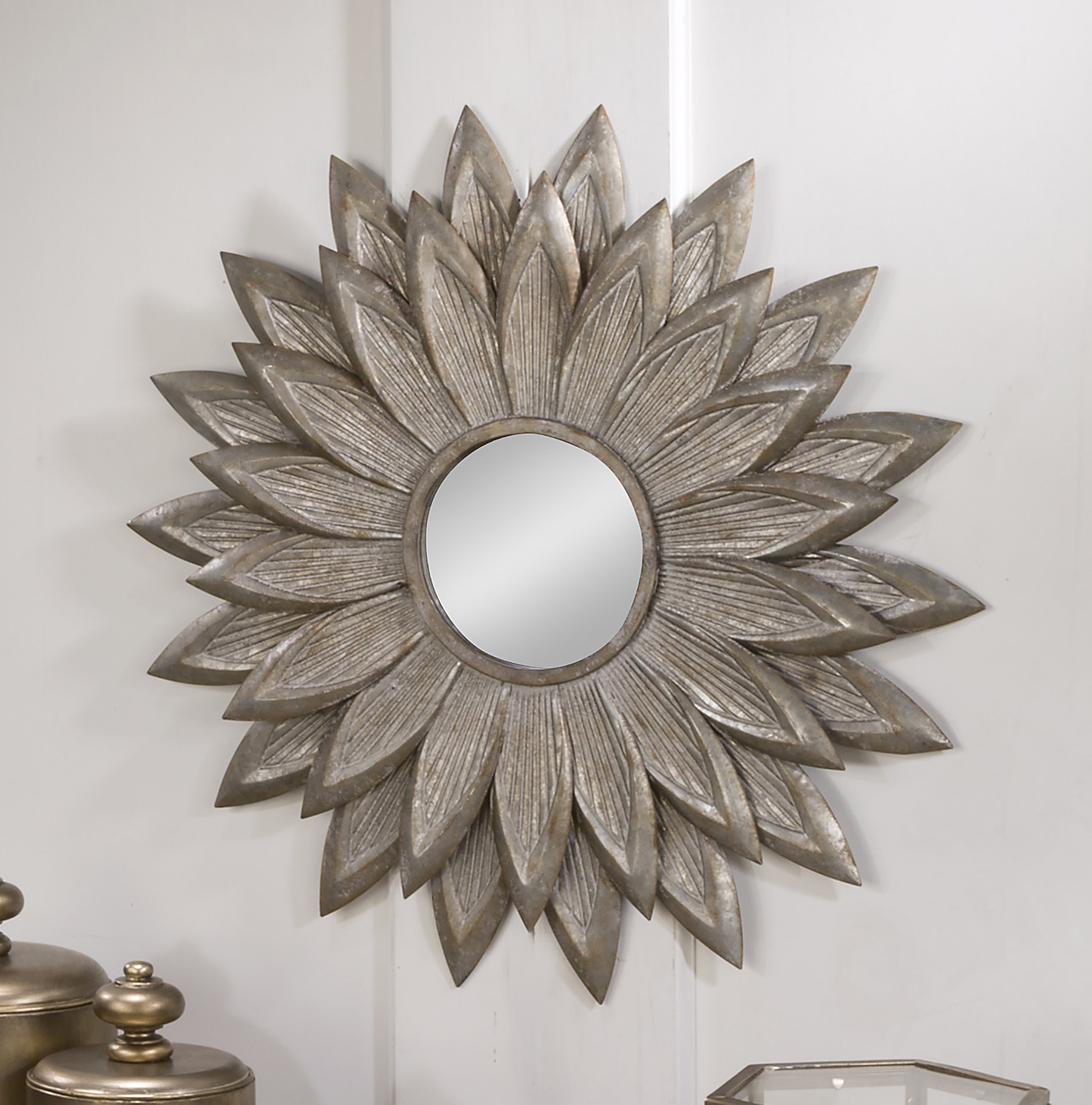 Well Known Newtown Accent Mirrors In Fossett Sunflower Eclectic Accent Mirror (View 18 of 20)
