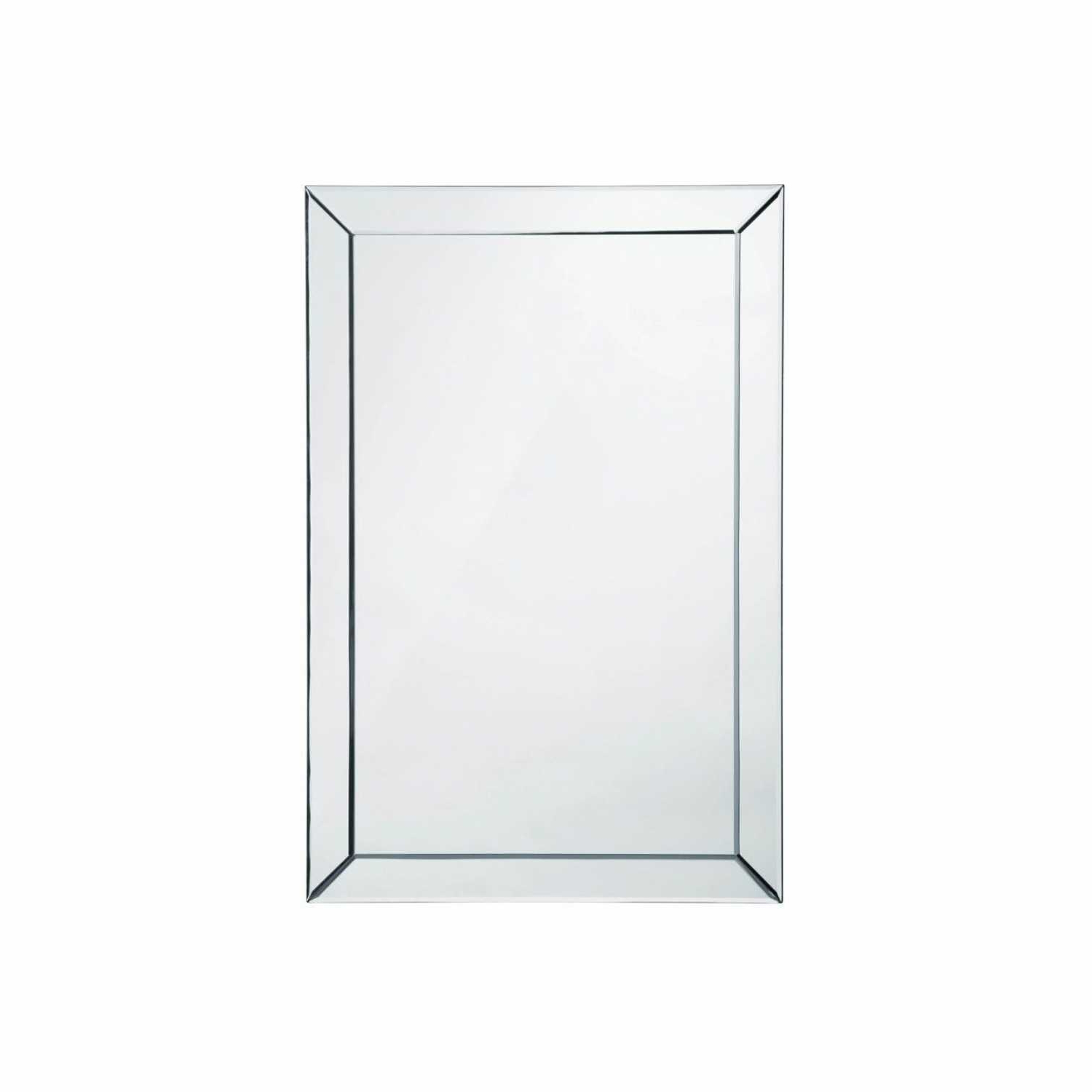 Well Known Plain Wall Mirrors Intended For Bevelled Edge Plain Simple Rectangular Wall Mirror (View 19 of 20)
