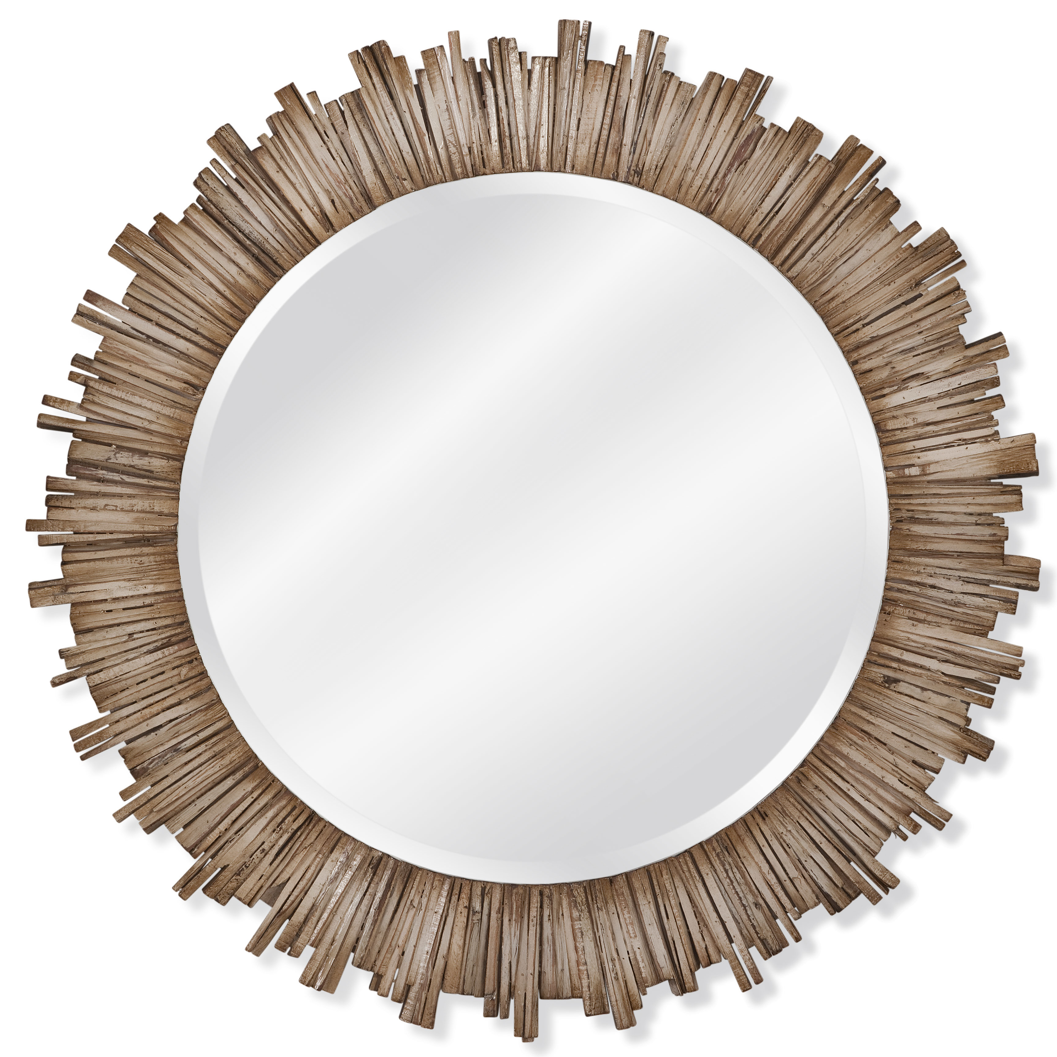 Well Known Raleigh Wall Mirror Inside Perillo Burst Wood Accent Mirrors (Gallery 12 of 20)