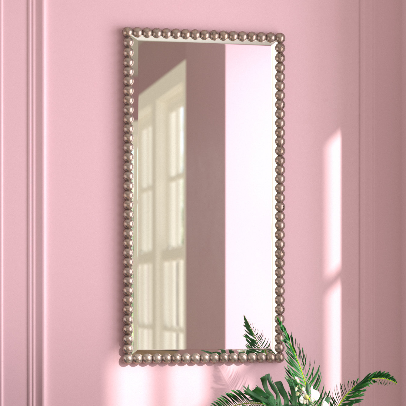 Well Known Rectangle Beveled Glass Wall Mirror With Lake Park Beveled Beaded Accent Wall Mirrors (View 19 of 20)