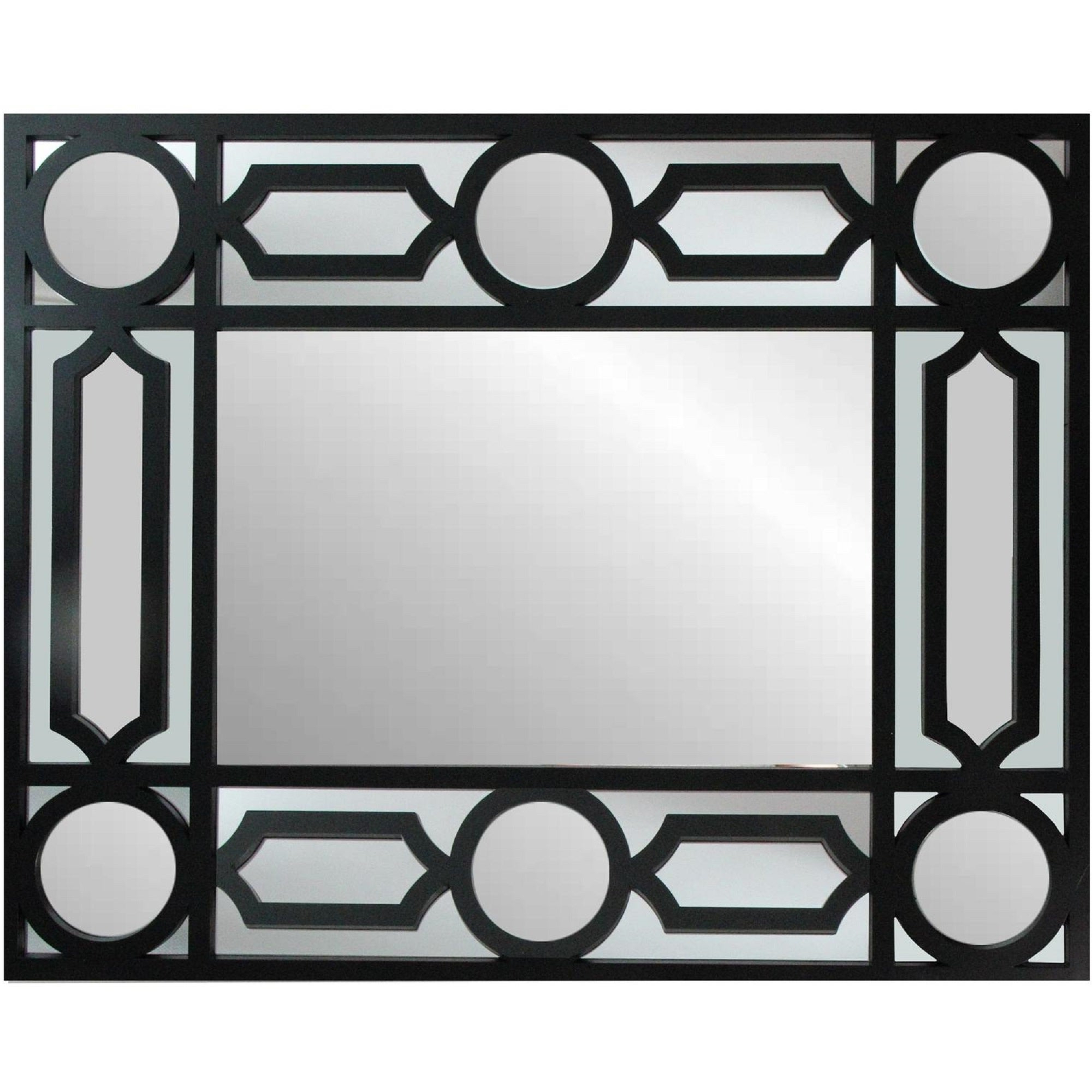 Well Known Rectangle Ornate Geometric Wall Mirrors For (View 13 of 20)