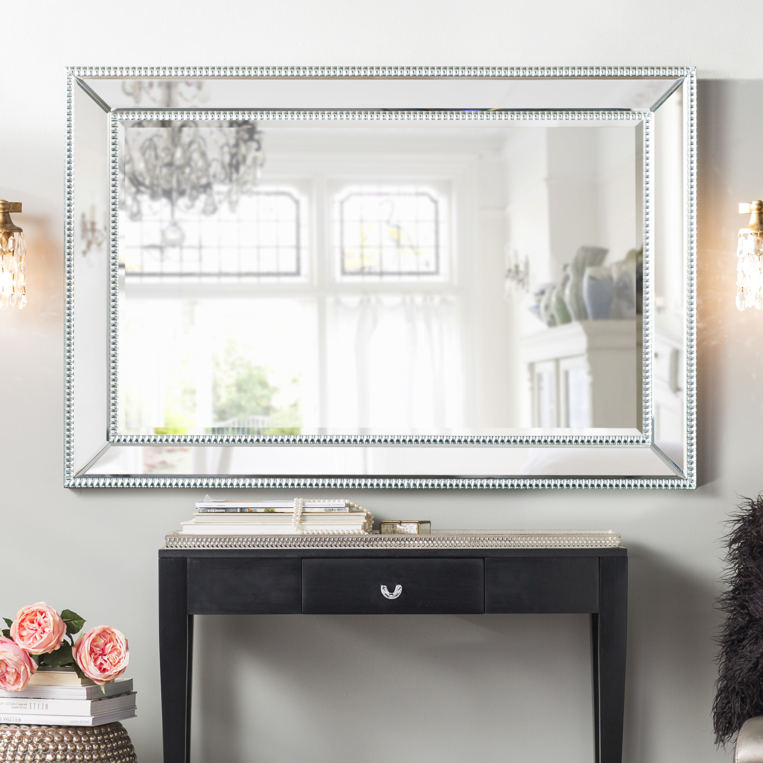 Well Known Rectangular Wall Mirrors In Clarimond Silver Rectangle Wall Mirror (View 3 of 20)