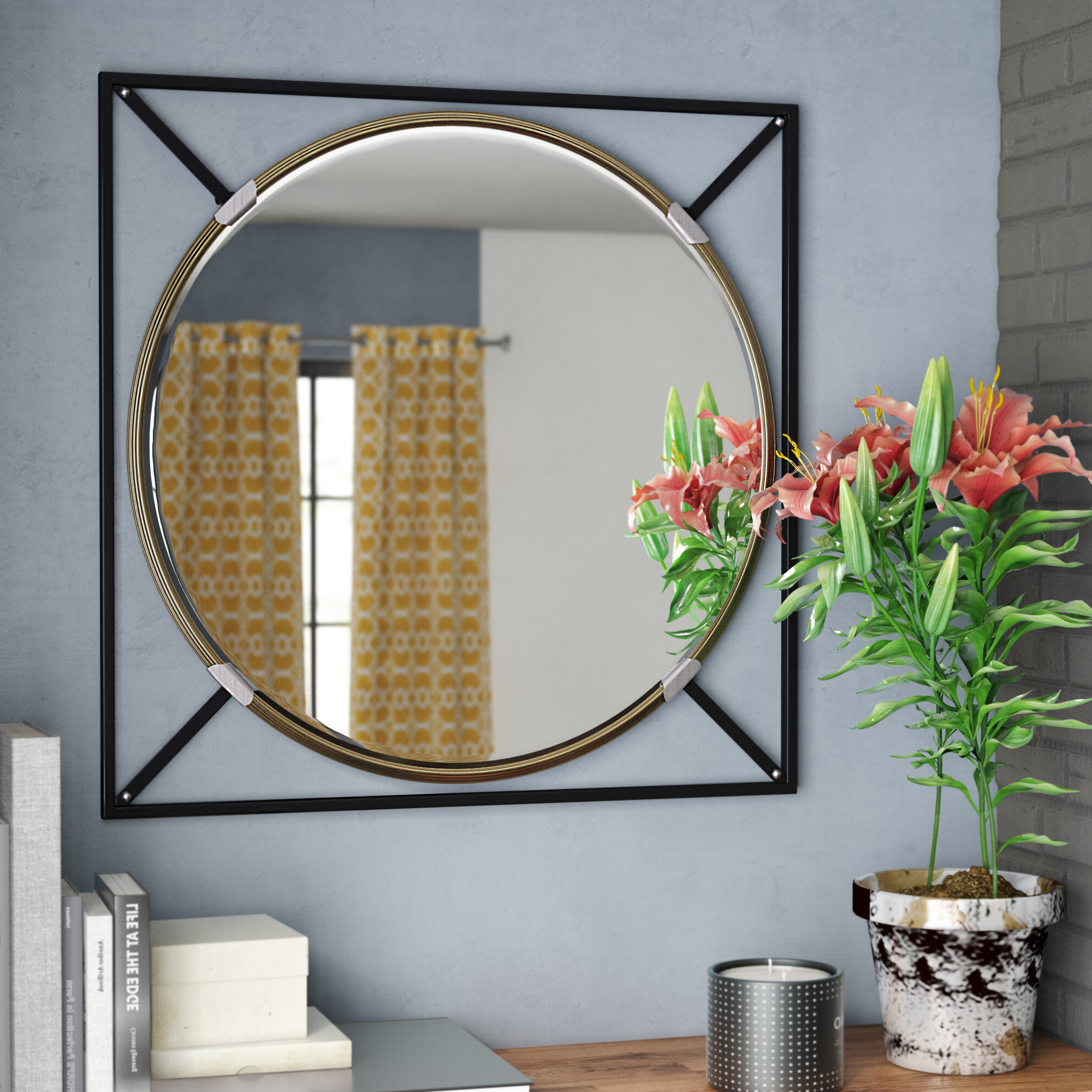 Well Known Rhein Accent Mirrors Throughout Shultis Oversized Decorative Wall Accent Mirror (Gallery 15 of 20)