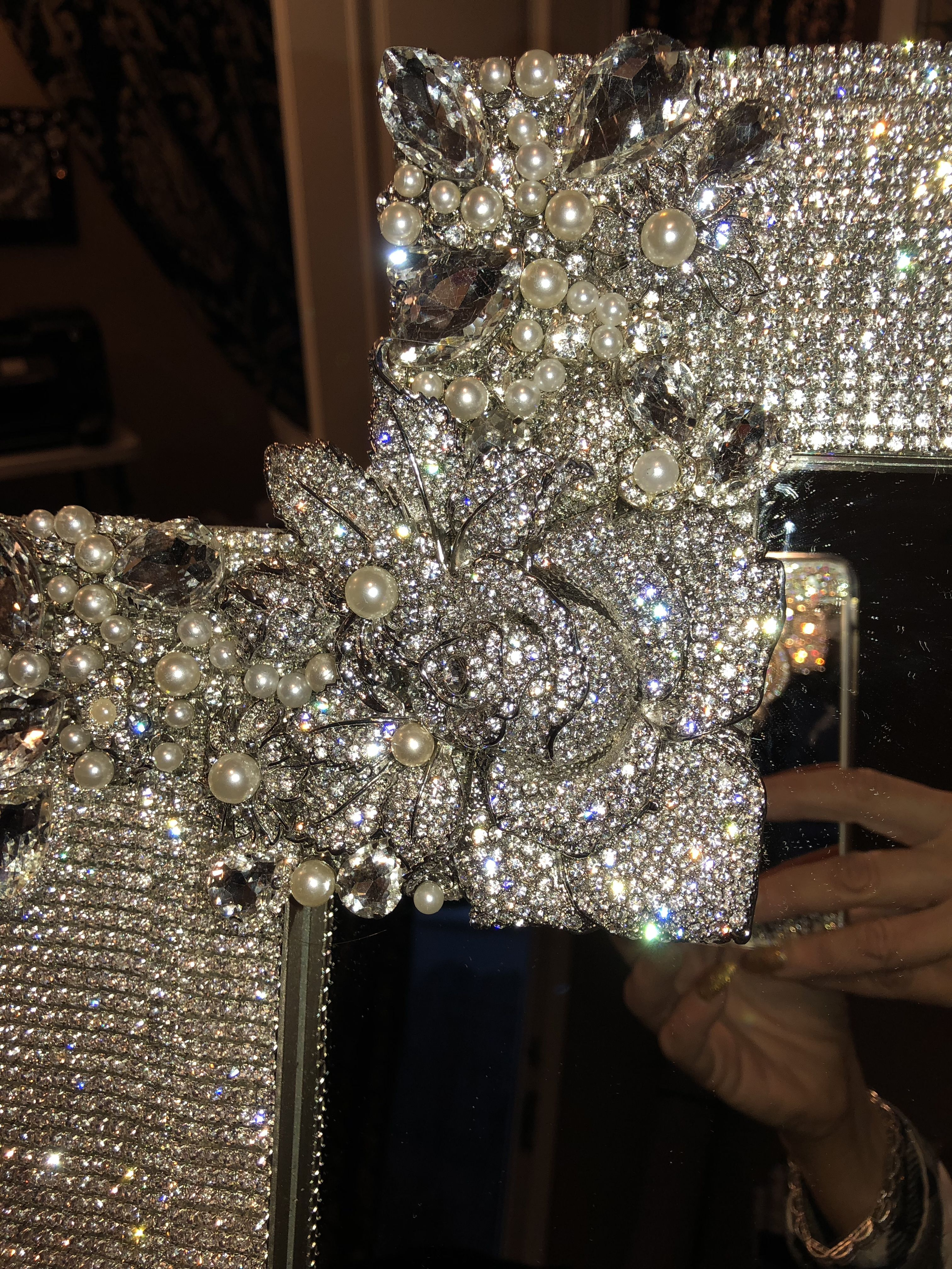 Well Known Rhinestone Mirror (View 9 of 20)