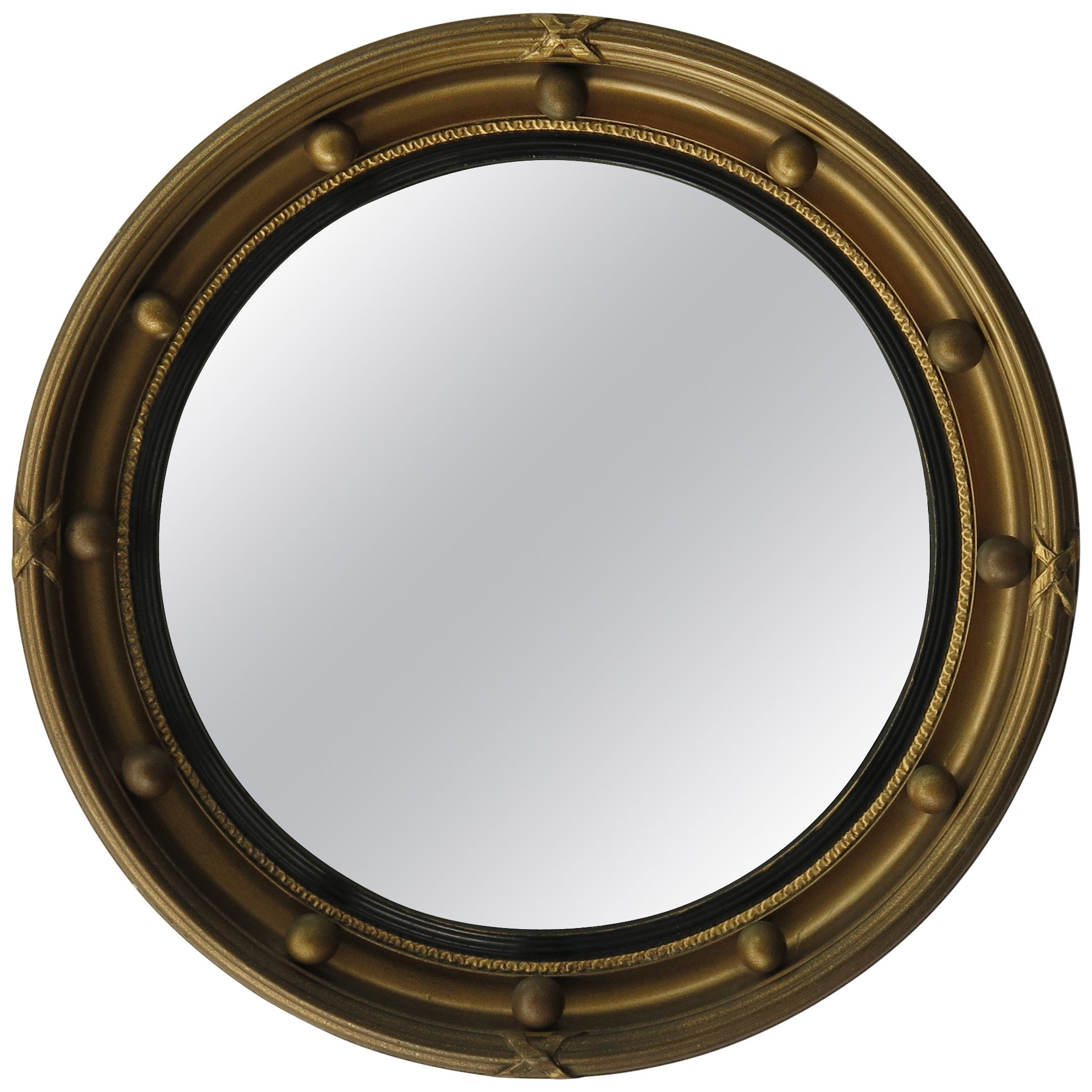 Well Known Round Convex Wall Mirrors Intended For Small Round Convex Wall Mirror, Ribbon And Ball Detail, Regency Style, Ca   (View 20 of 20)