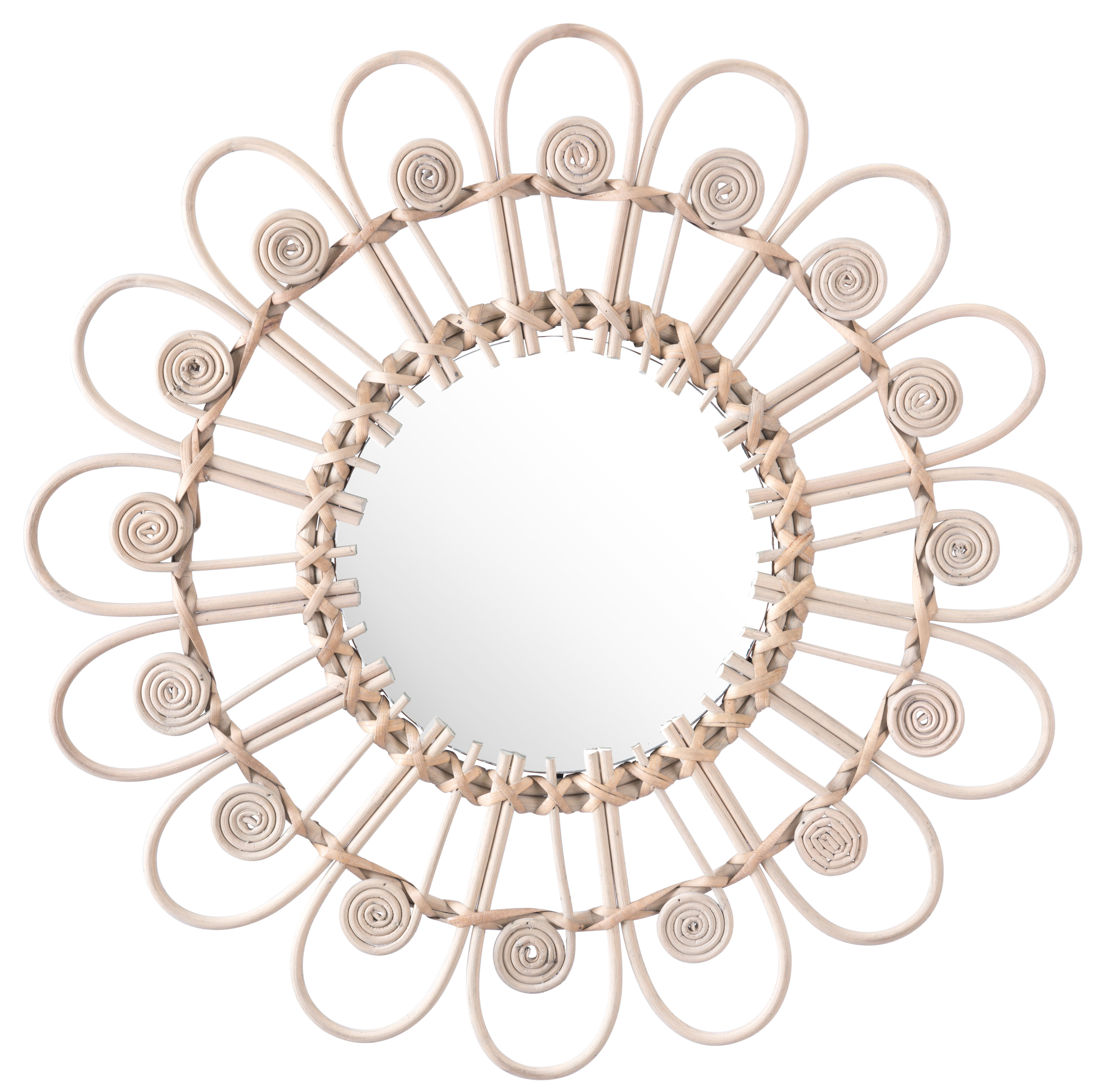 Well Known Round Eclectic Accent Mirrors Regarding Jalynn Eclectic Accent Mirror (View 7 of 20)