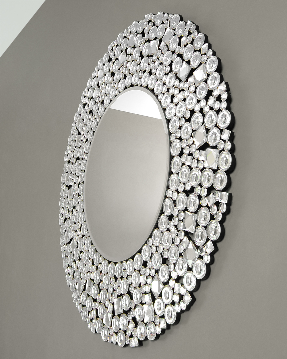 Well Known Round Wall Mirror With Crystals – Mirror Decorating Ideas In Wall Mirrors With Crystals (View 5 of 20)