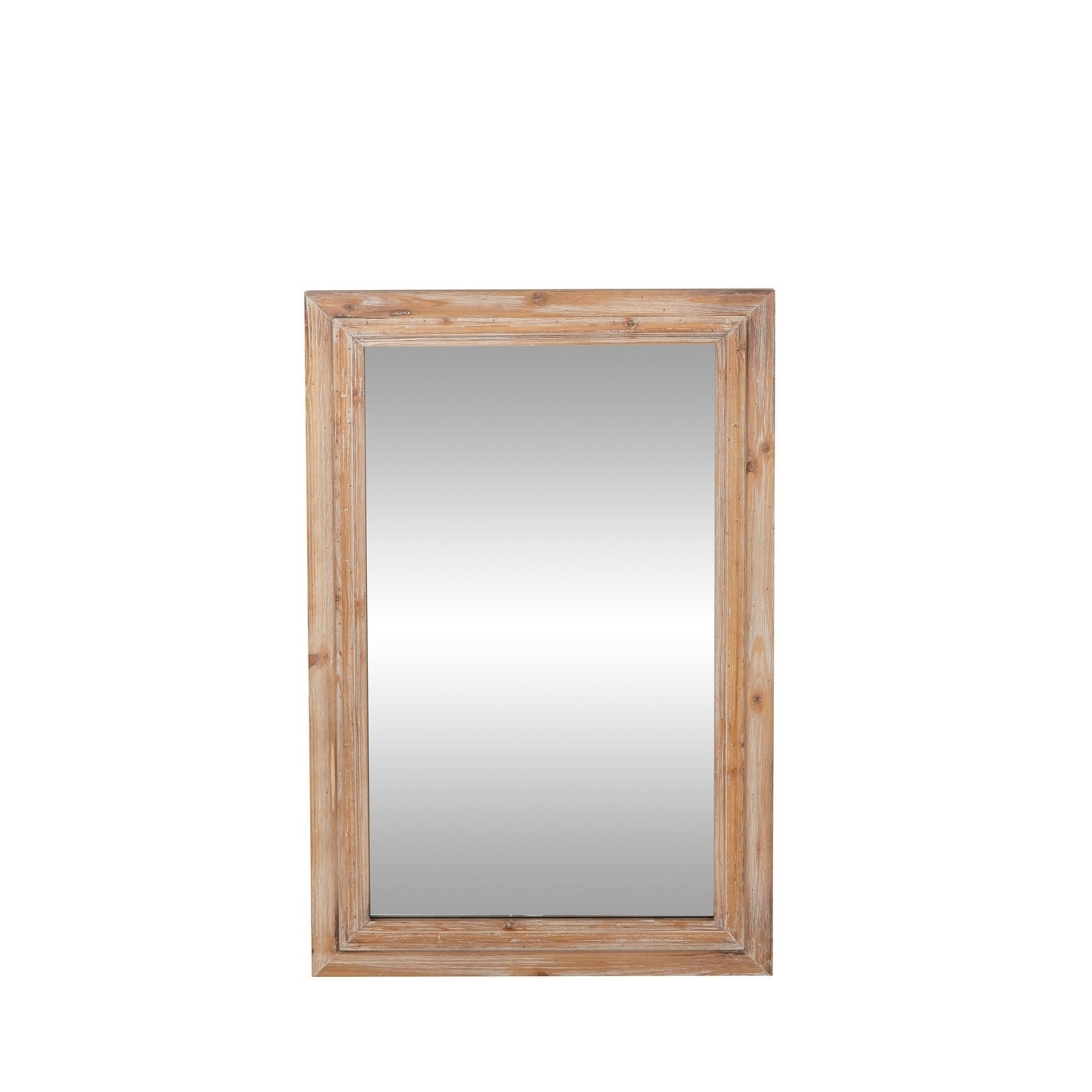 Well Known Rustic 35 X 22 Inch Brown Wood Framed Wall Mirrorstudio 350 Within Wood Framed Wall Mirrors (View 10 of 20)