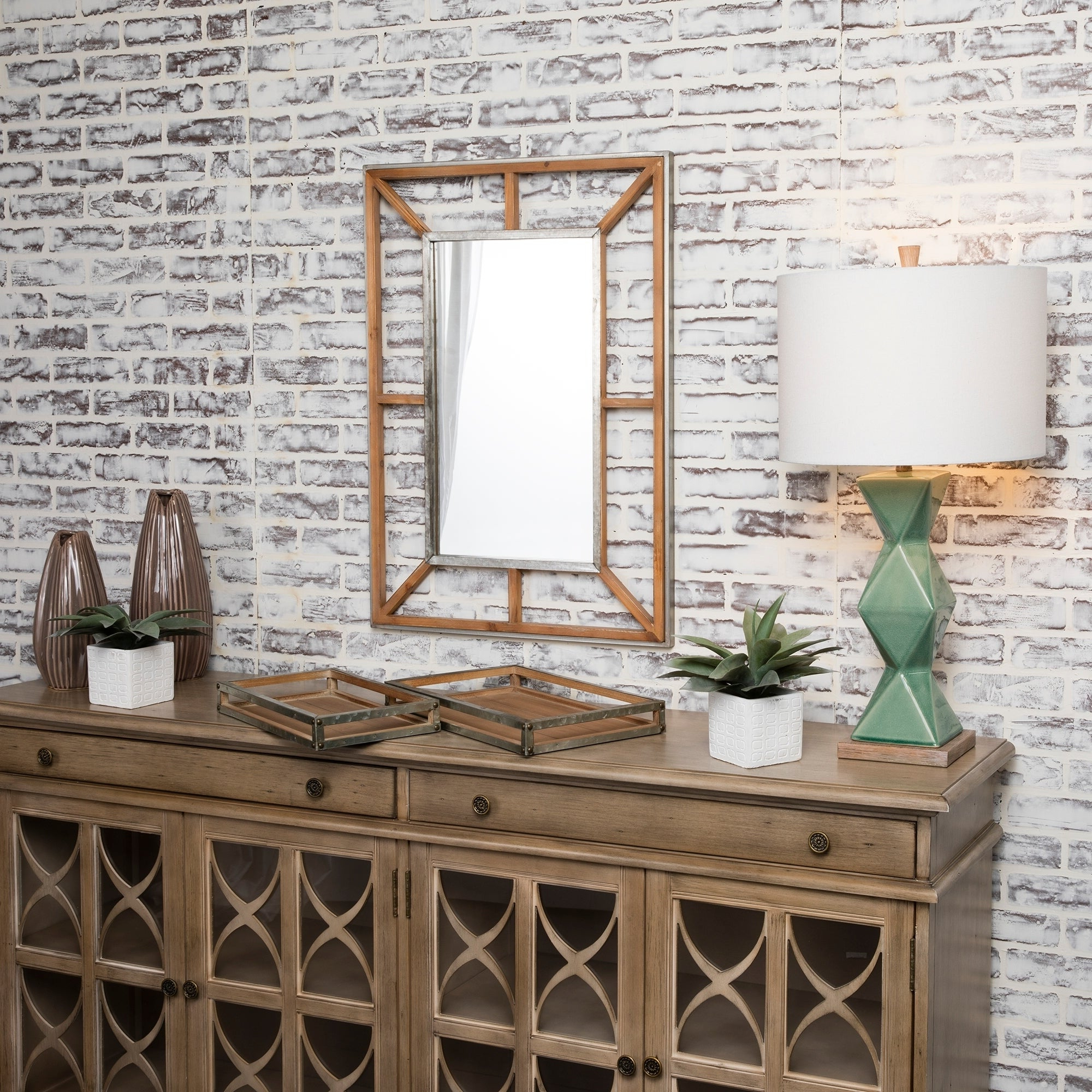 Well Known Stacy Wood Horizontal And Vertical Decorative Wall Mirror – Natural – A/n Throughout Horizontal Decorative Wall Mirrors (View 10 of 20)