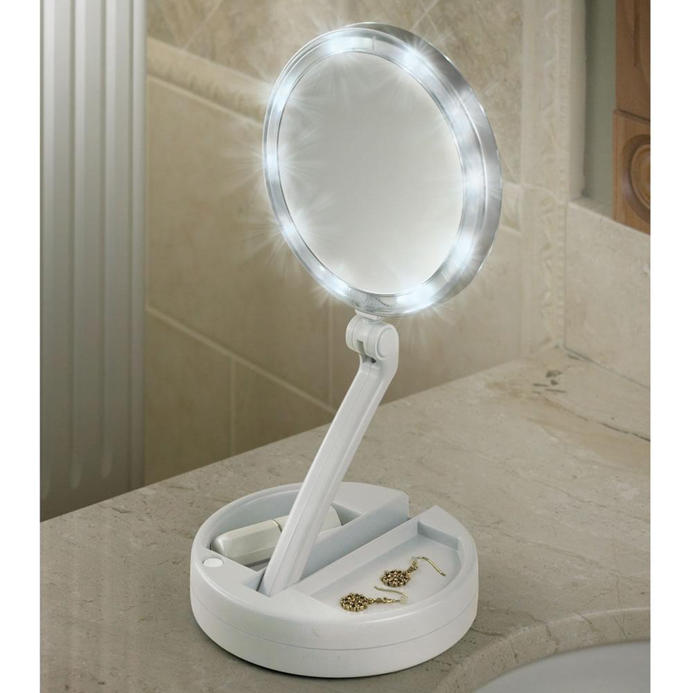 Well Known The Brighter Foldaway Vanity Mirror Regarding Vanity Mirrors (View 17 of 20)