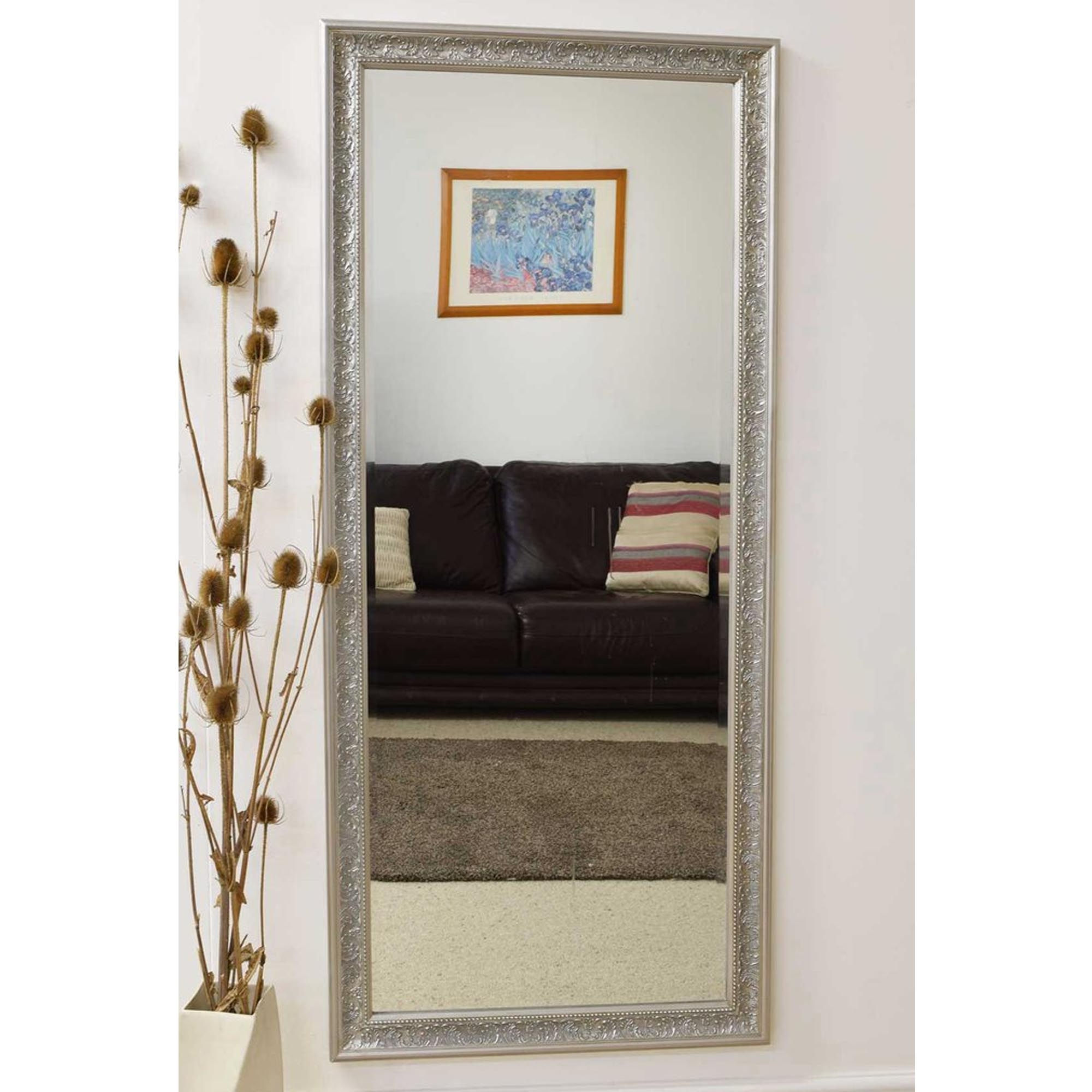 Well Known Thin Wall Mirrors With Regard To Decorative Thin Silver Antique French Style Wall Mirror (View 17 of 20)
