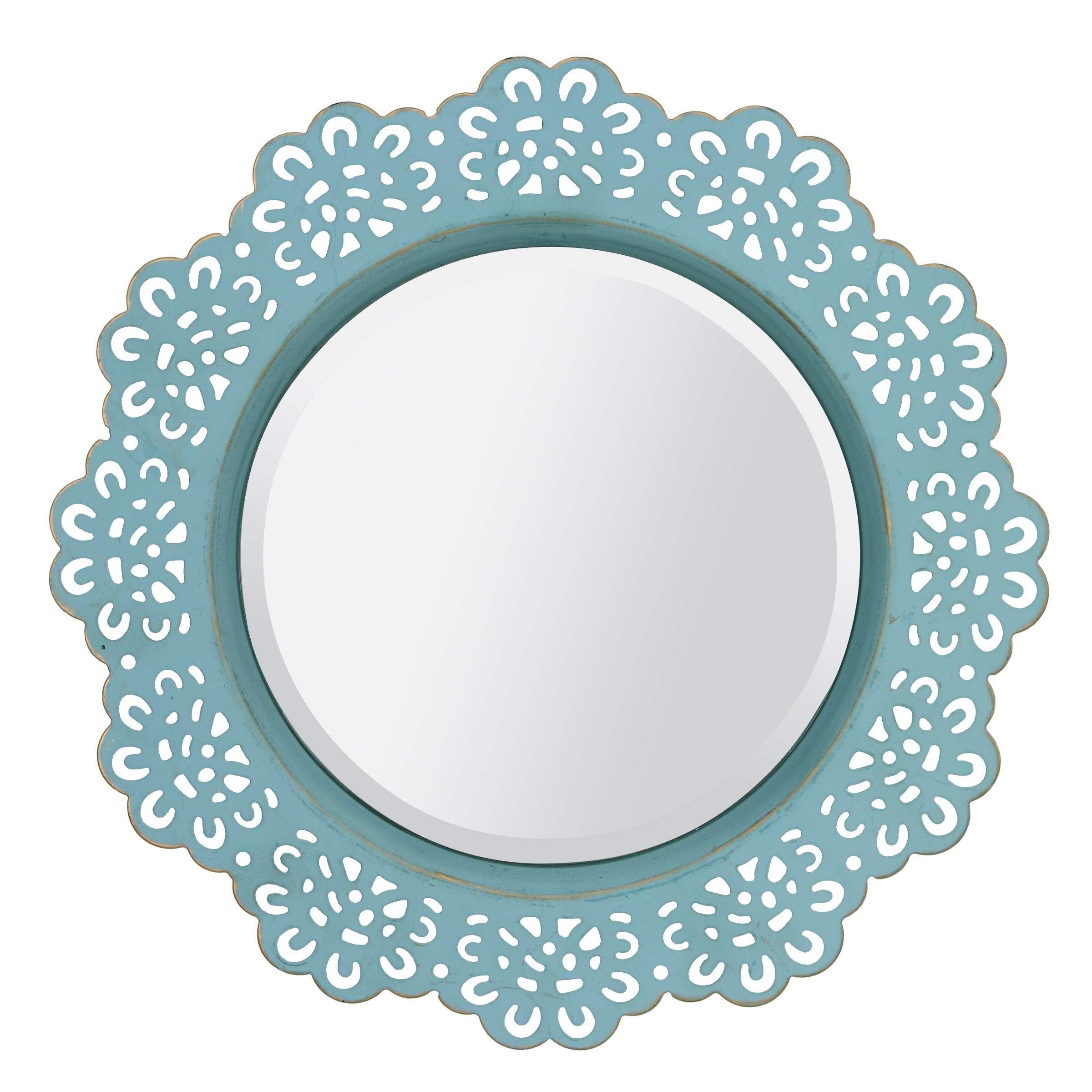 Well Known Turquoise Metal Lace Wall Mirror – Pertaining To Turquoise Wall Mirrors (View 20 of 20)
